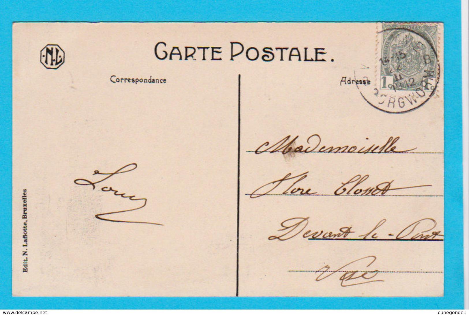 CPA VERLAINE : Maison DELVAUX-DESSART, Entrepreneur N° 2 - Belle Animation Et Circulée En 1912 - Ed Laflotte - 2 Scans - Verlaine