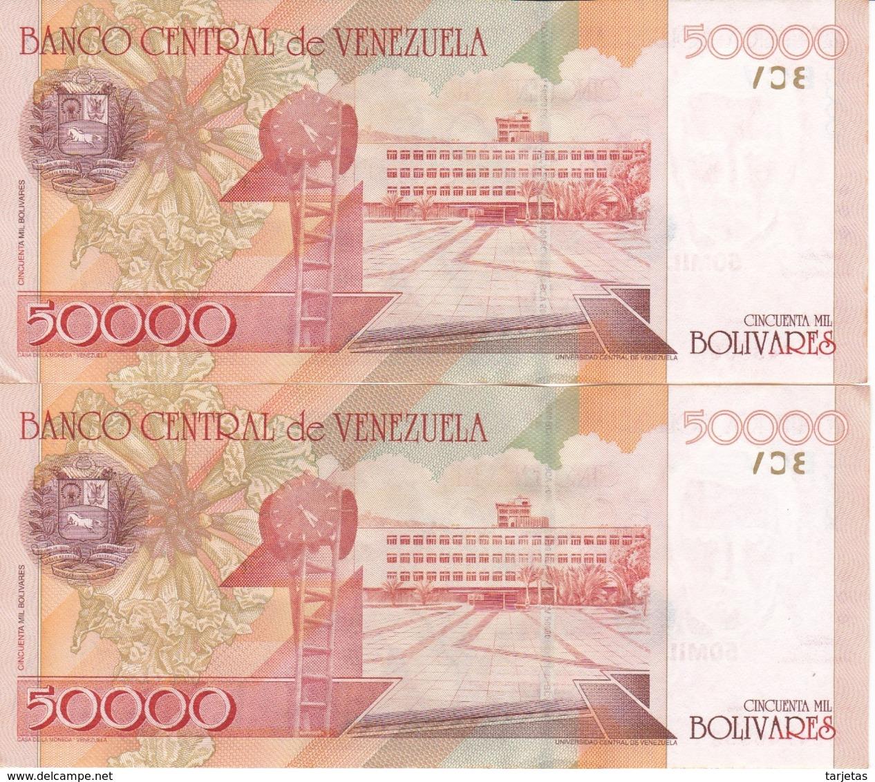 PAREJA DE VENEZUELA DE 50000 BOLIVARES DEL AÑO 2006 EN CALIDAD EBC (XF)  (BANK NOTE) - Venezuela