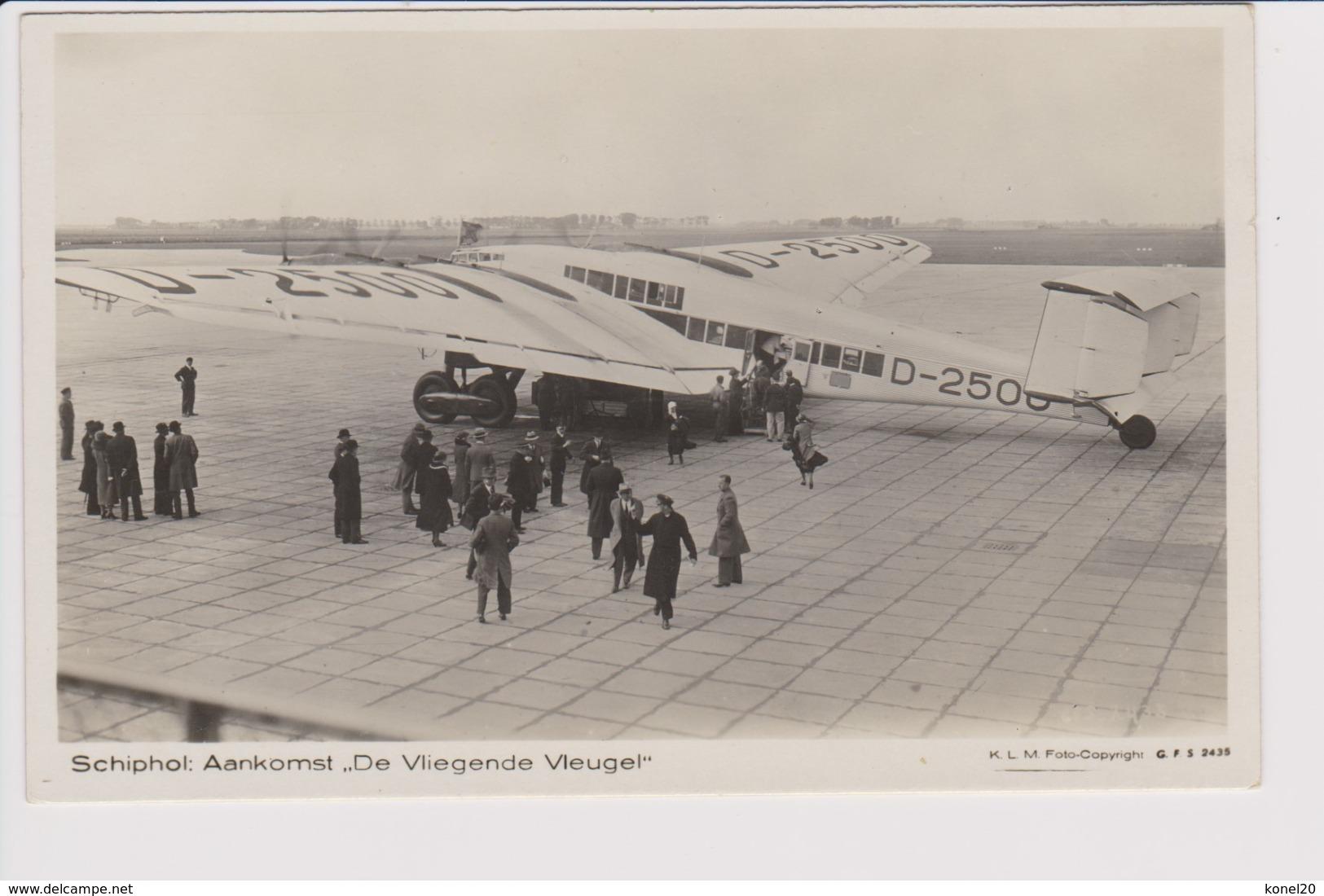 Vintage Rppc KLM K.L.M. Royal Dutch Airlines Fokker & Lufthansa Junkers G-38 @ Schiphol Airport - 1919-1938: Entre Guerres
