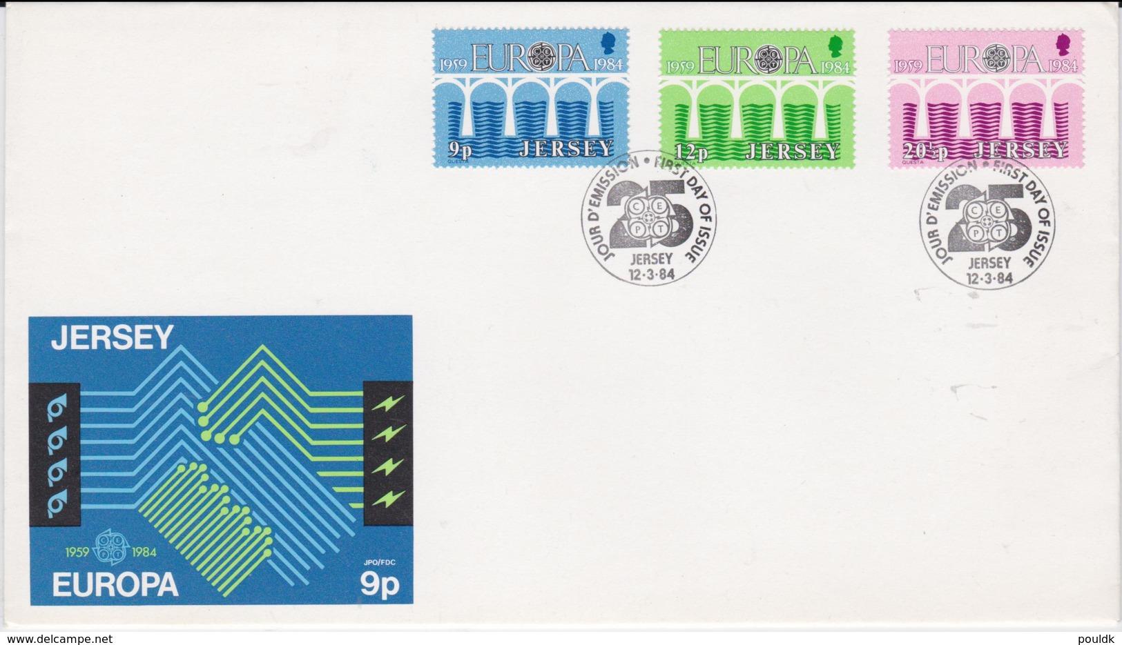 Jersey 1984 FDC Europa CEPT (NB**LAR7-33) - 1984