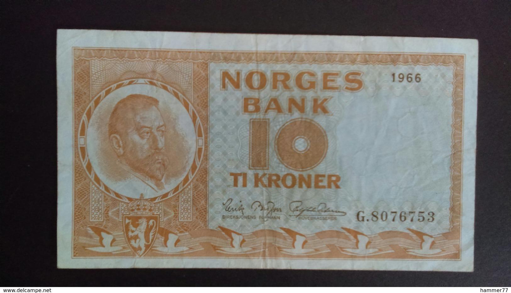 Norway 1966: 10 Kroner - Norvegia