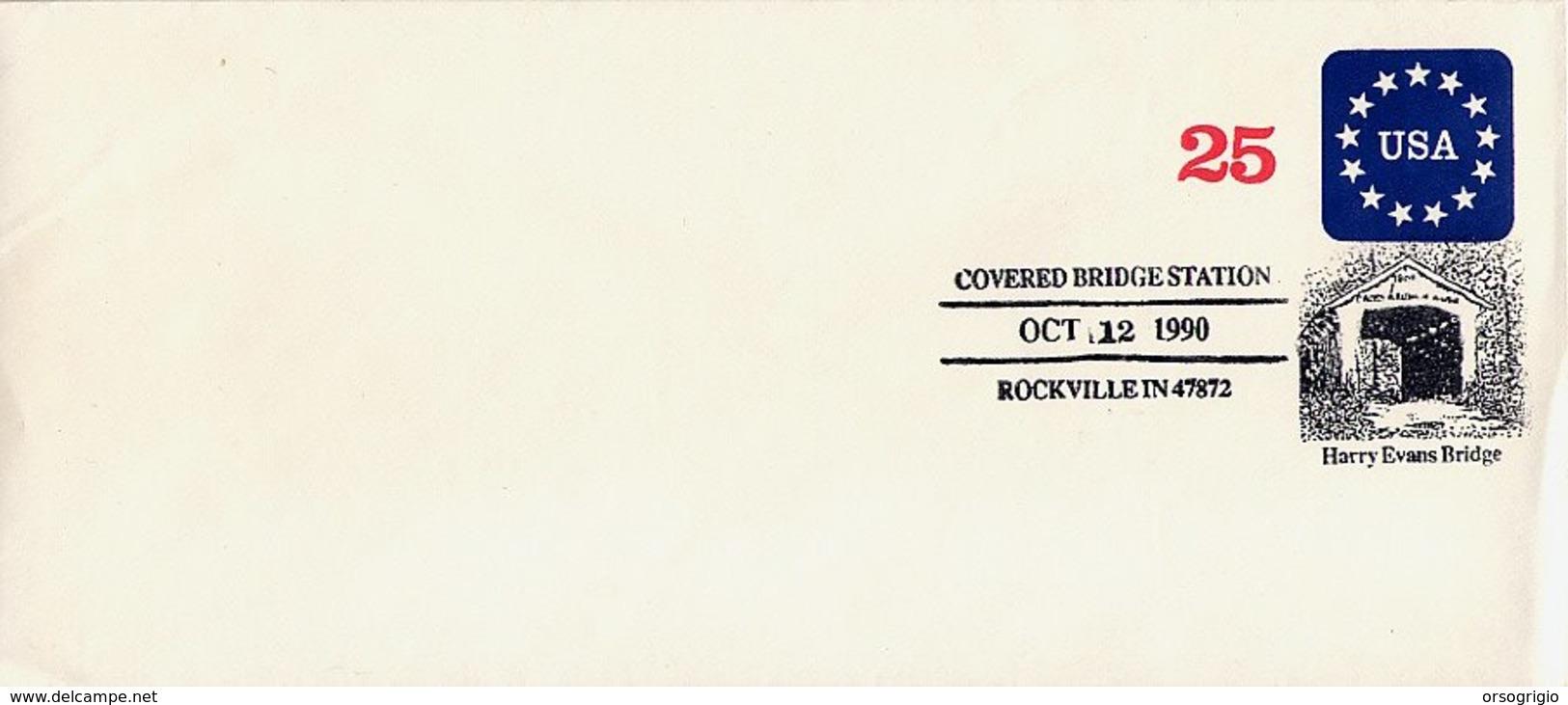 USA - ROCKVILLE  IN  -  HARRY EVANS BRIDGE - COVERED BRIDGE - PONTE COPERTO - Ponti