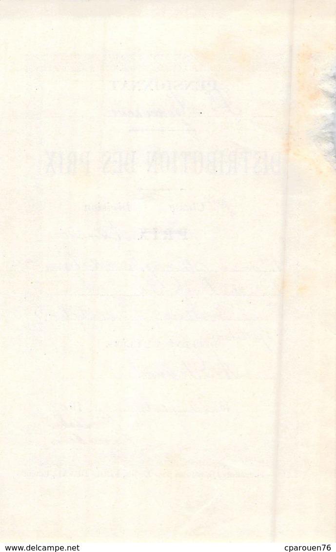 Distribution De Prix Pension Sainte Geneviève Bolbec 1909 Orthographe Histoire Etc   Piednoël - Non Classificati