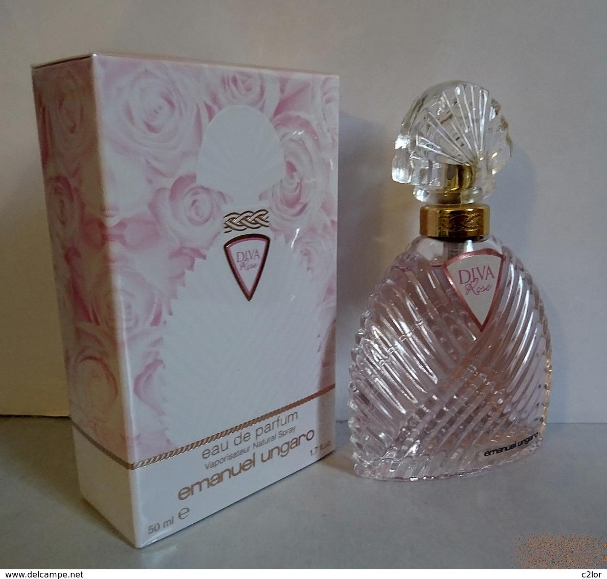 """Flacon Vaporisateur """"DIVA ROSE"""" De EMMANUEL UNGARO Eau De Parfum  50 Ml NEUF Sous BLISTER - Women"""