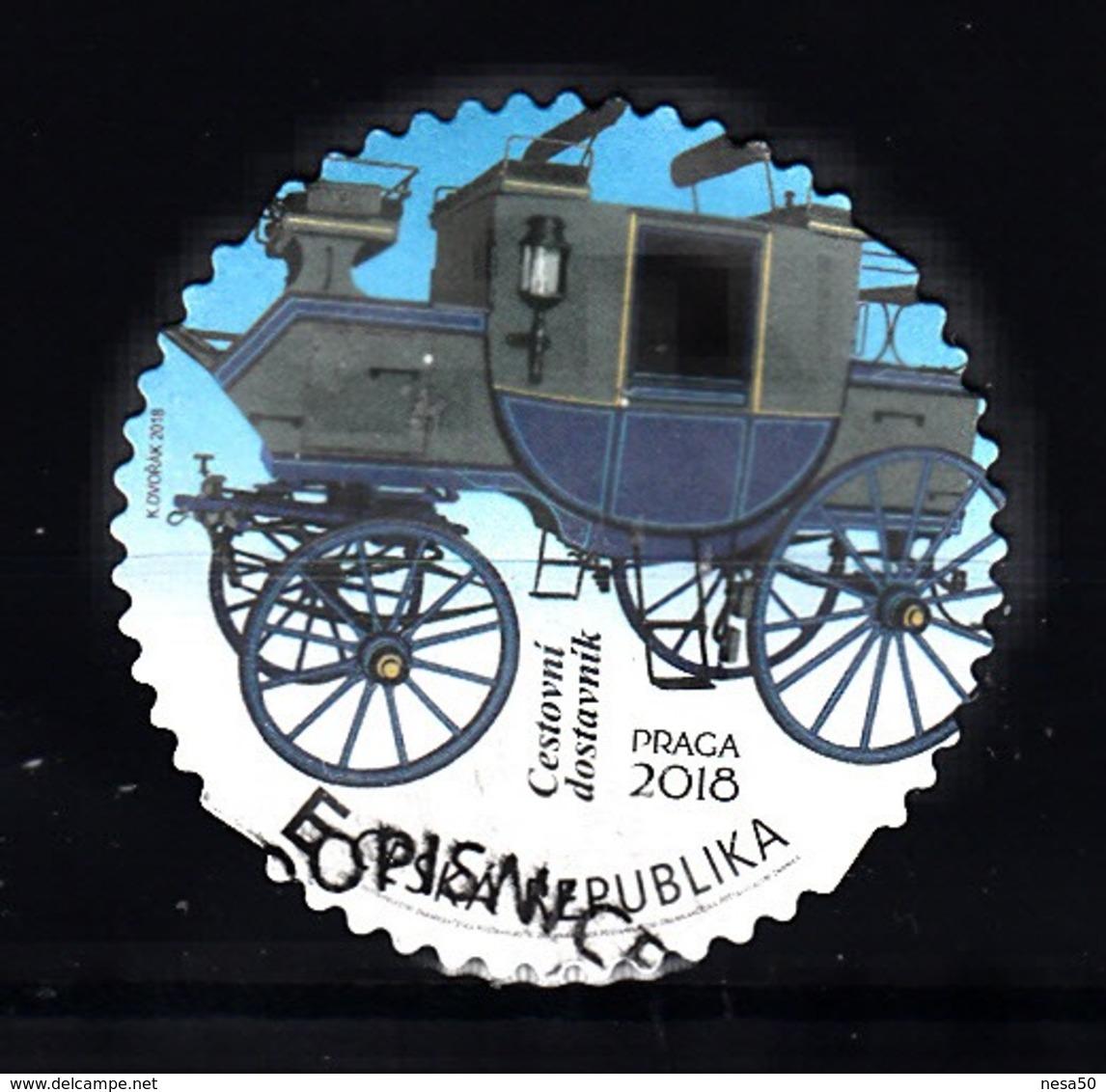 Tsjechie, Ceska, 2018 Mi Nr 973 , Persoonlijke Zegel Postkoets, Stage Coach, Uit Museum - Tsjechië