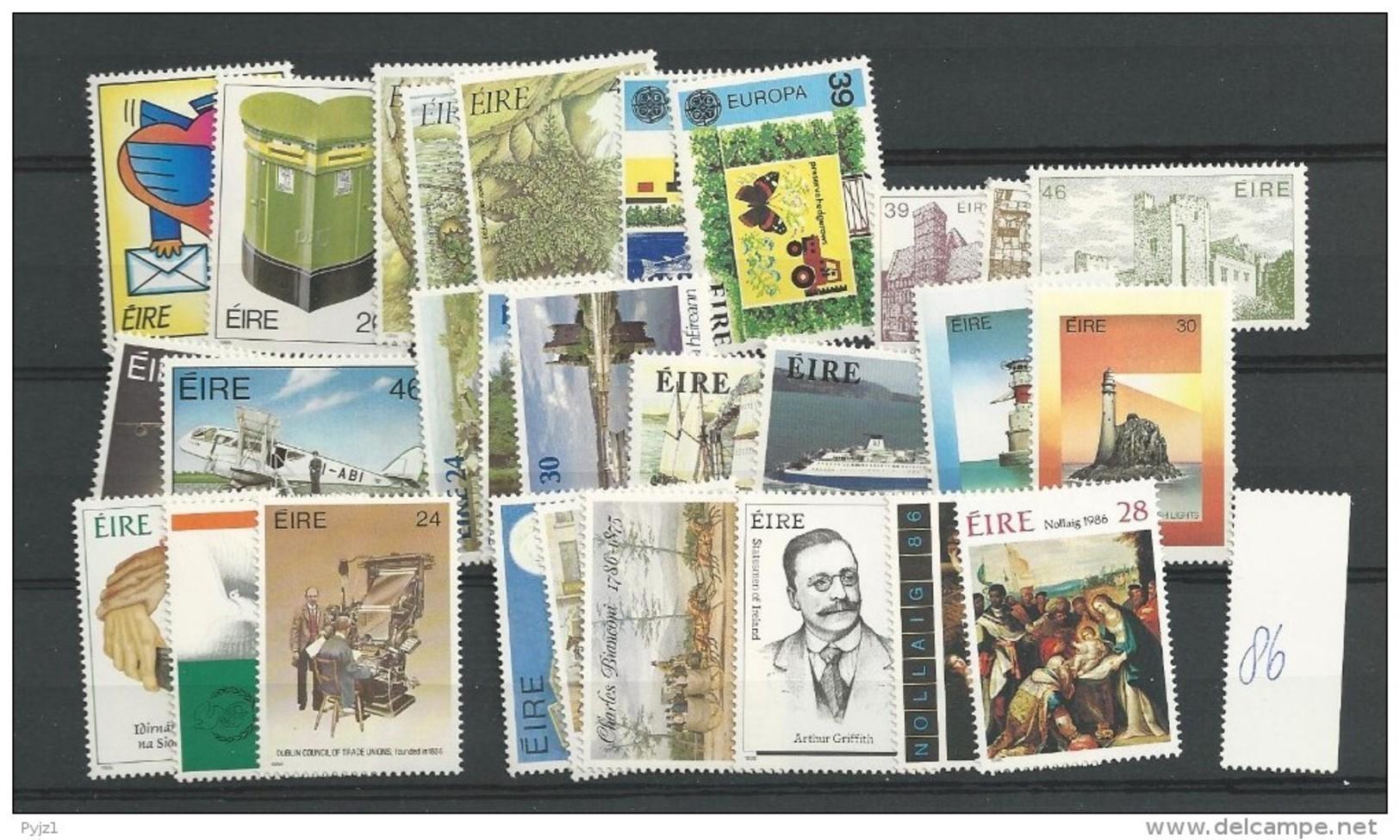 1986 MNH Ireland, Eire, Irland Year Collection, Postfris - Irlanda