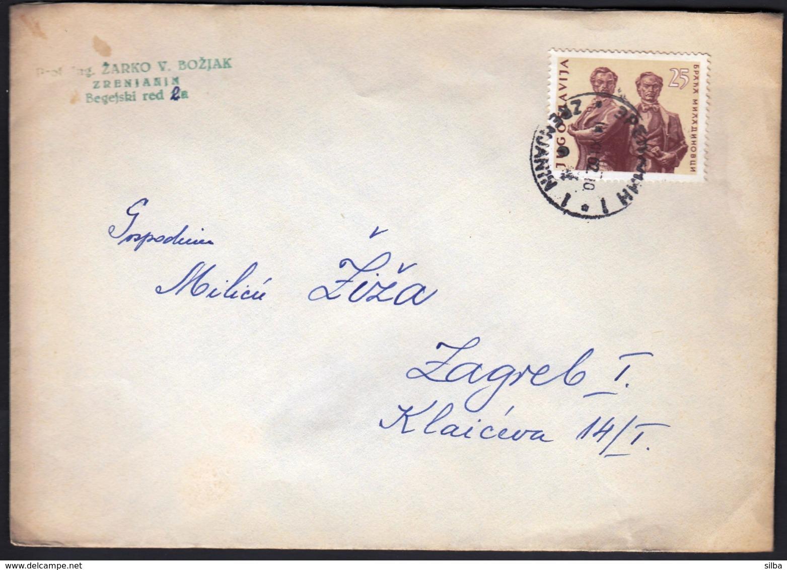 Yugoslavia Zrenjanin 1962 / 100th Anniversary Of The Death Of Brothers Miladinovic (1810-1862) - Cartas