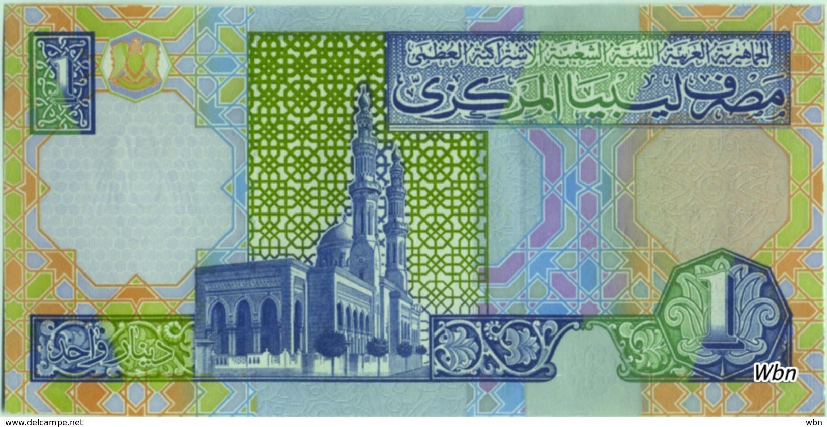 Libya 1 Dinar (P64) 2002 Sign 7 -UNC- - Libya