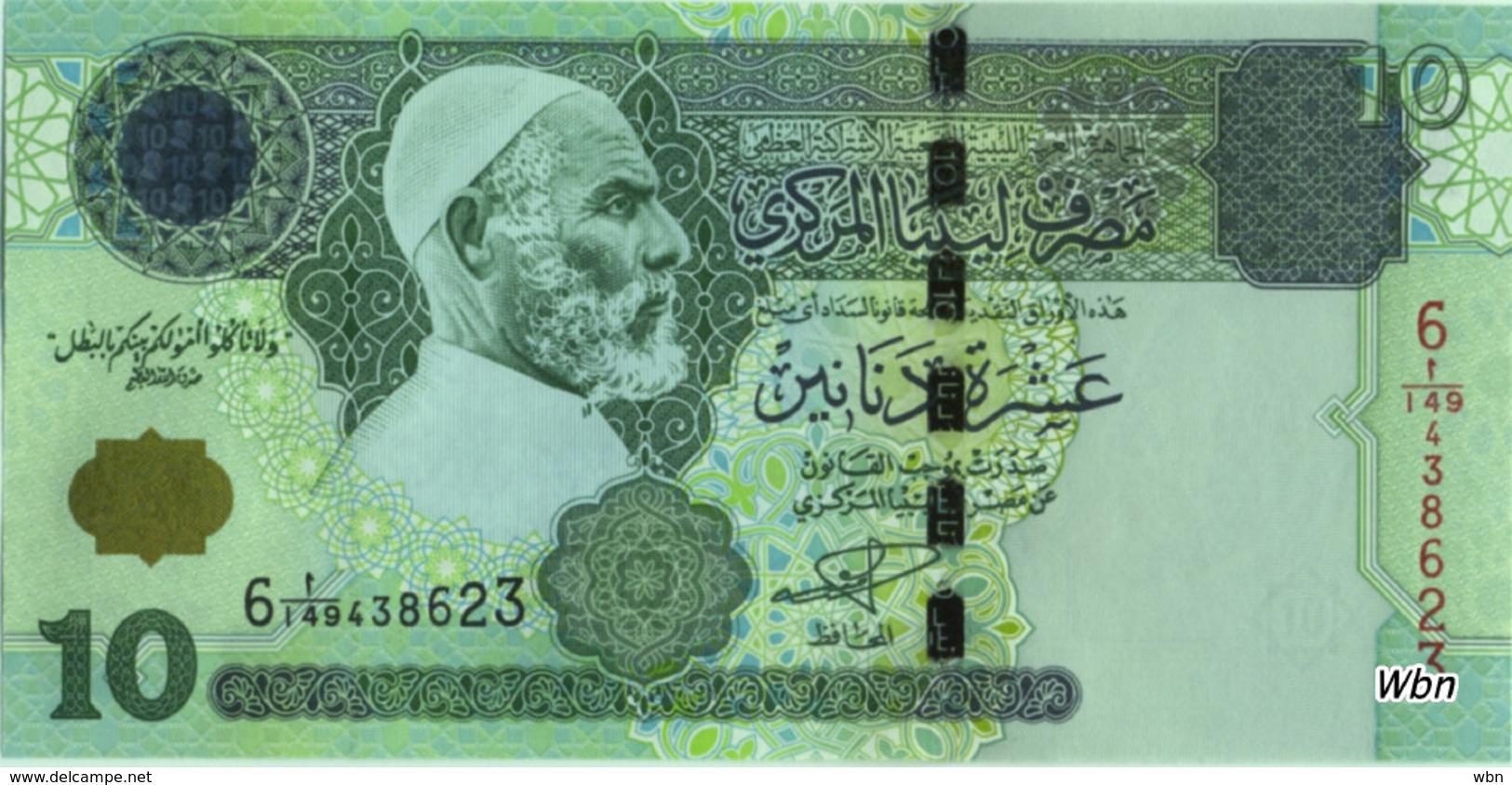 Libya 10 Dinars (P70) 2004 Sign 9 -UNC- - Libya