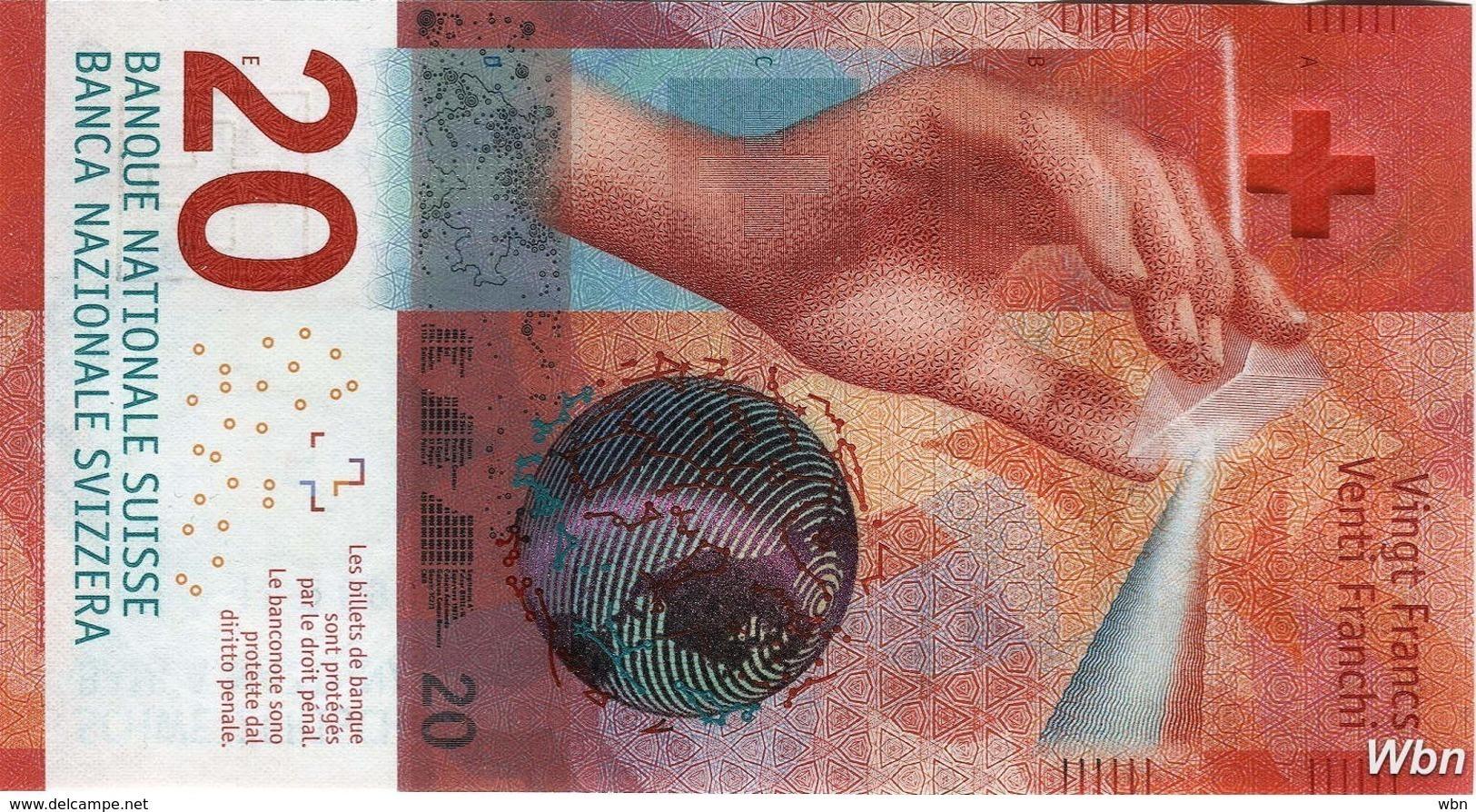 Suisse 20 Francs (P76) 2015c (Pref: R) -UNC- - Suiza