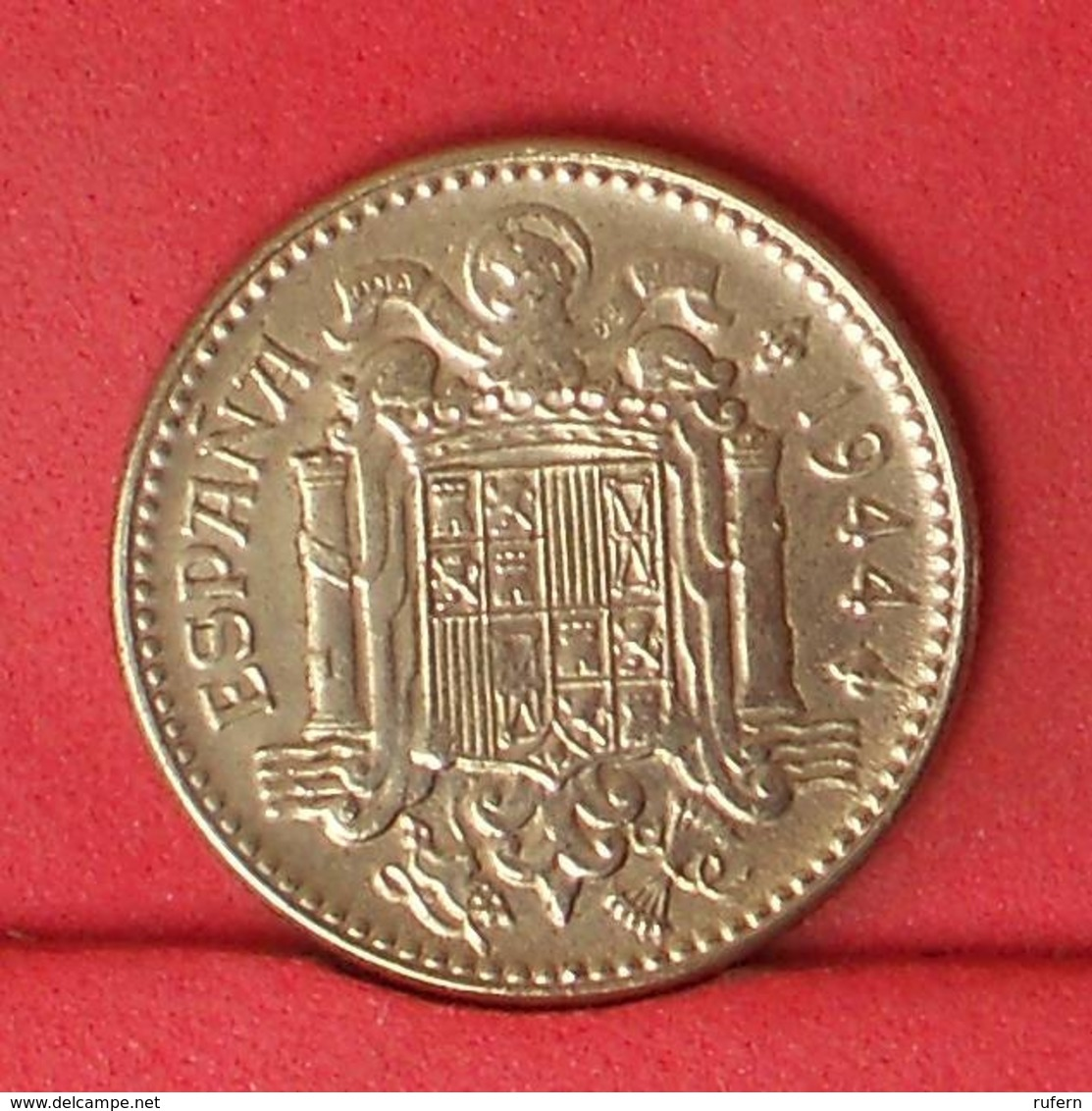 SPAIN 1 PESETA 1944 -    KM# 767 - (Nº31911) - 1 Peseta