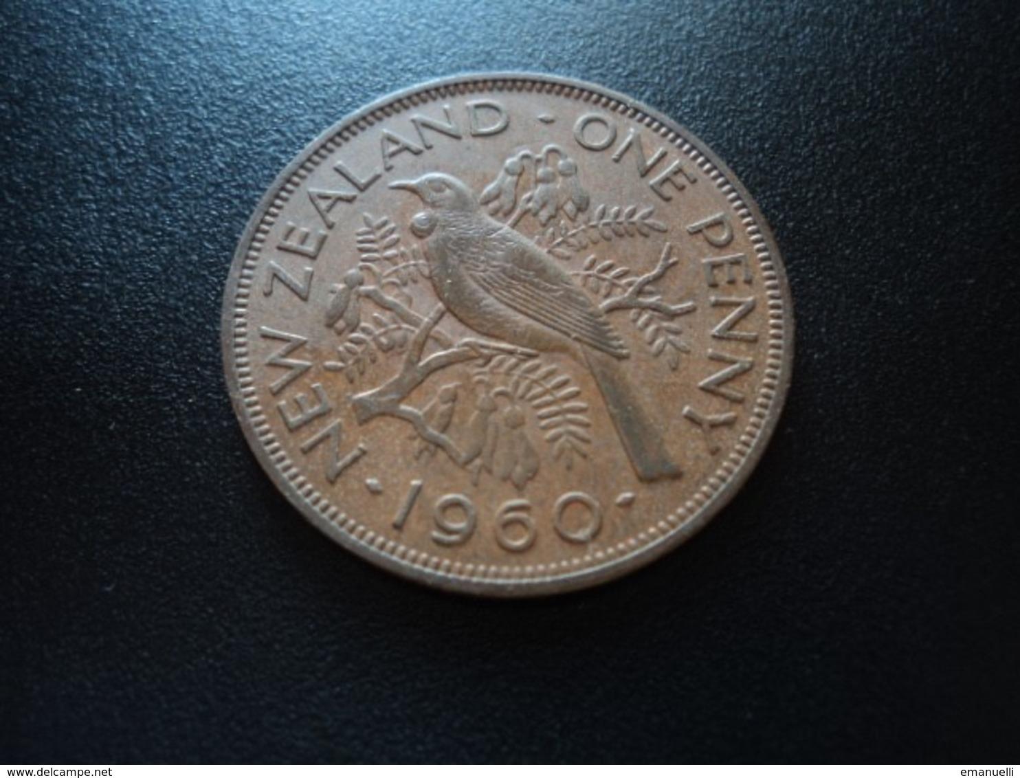 NOUVELLE ZÉLANDE : 1 PENNY   1960    KM 24.2      TTB+ - New Zealand