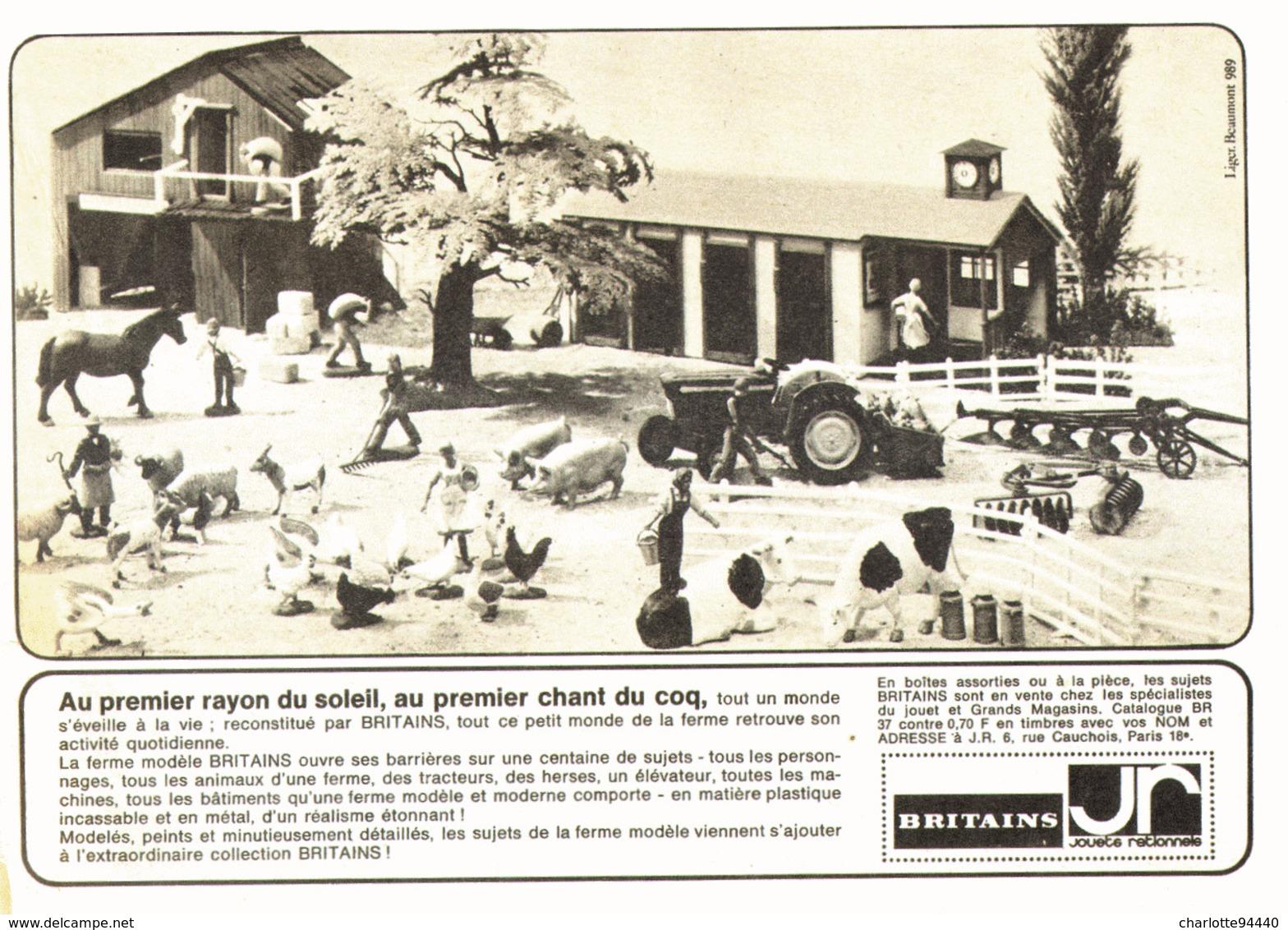 """PUB  BRITAINS  """" LA FERME """" 1967 - Figurines"""