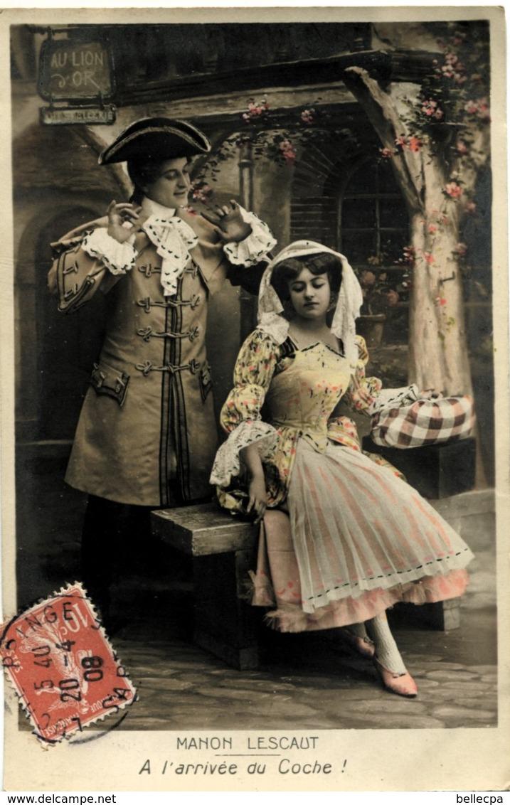 Cpa Fantaisie Théâtre Série Complète Manon Lescaut - Theatre