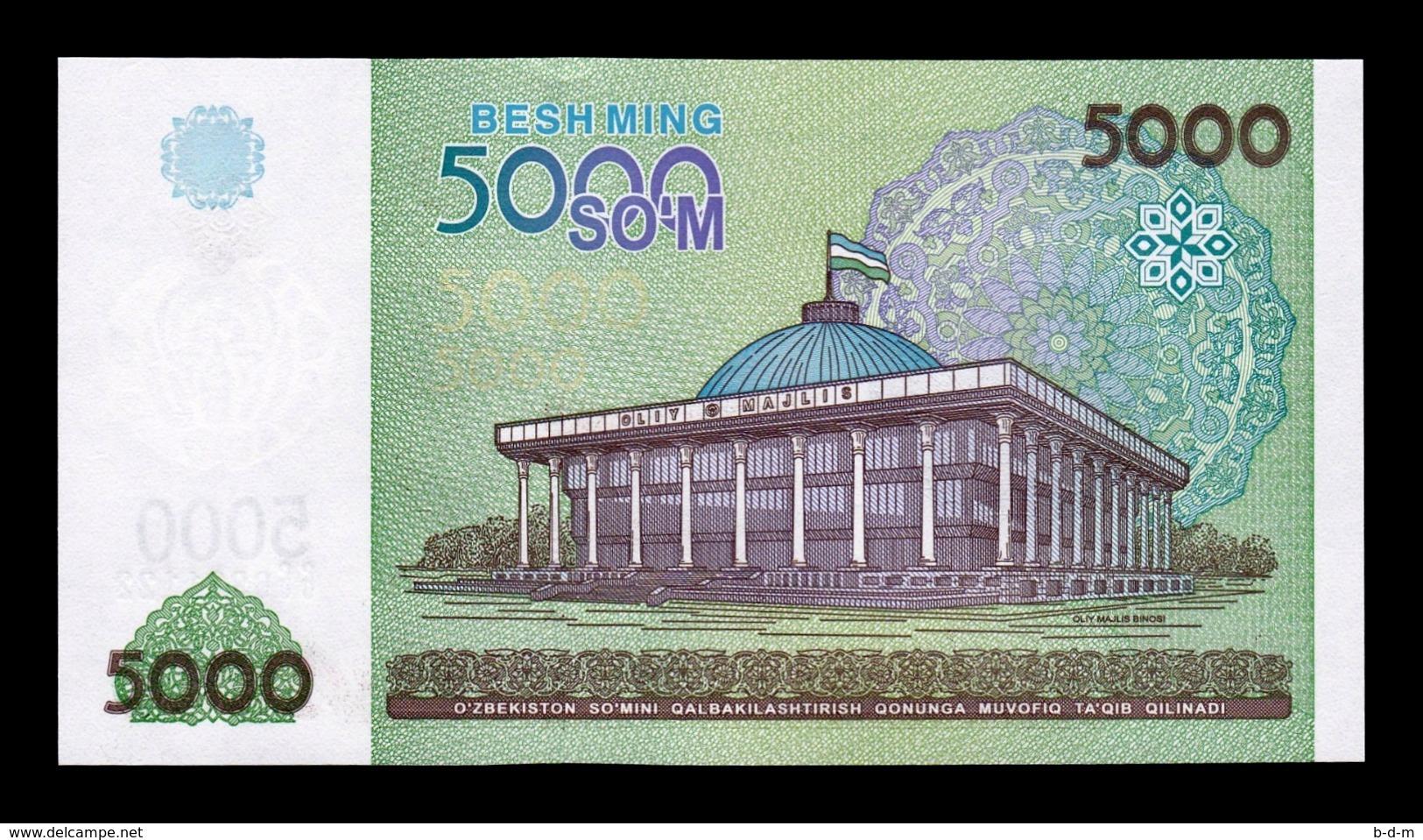 Uzbekistan Lot Bundle 5 Banknotes 5000 Sum 2013 Pick 83 SC UNC - Uzbekistán