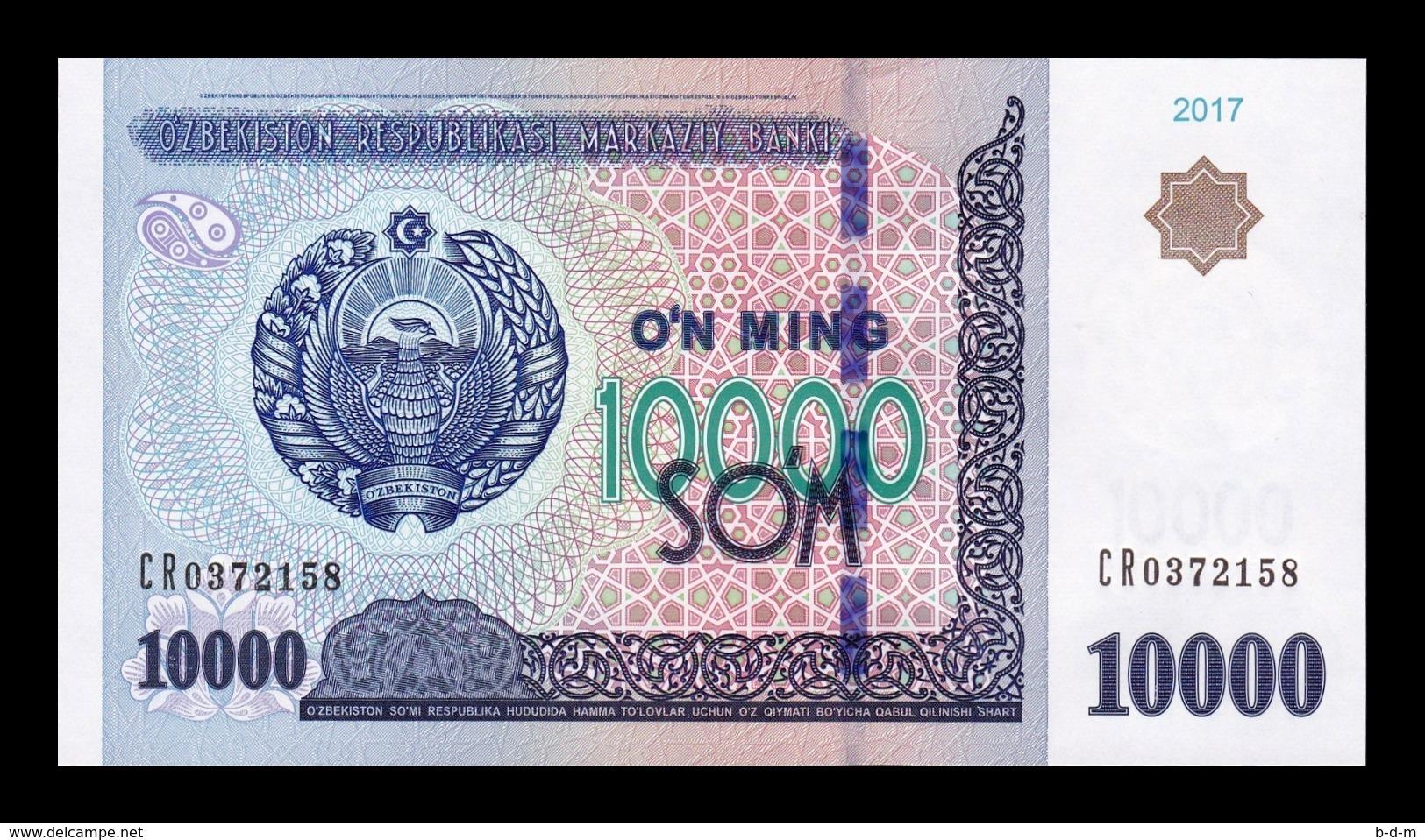 Uzbekistan 10000 Sum 2017 Pick 84 SC UNC - Uzbekistán