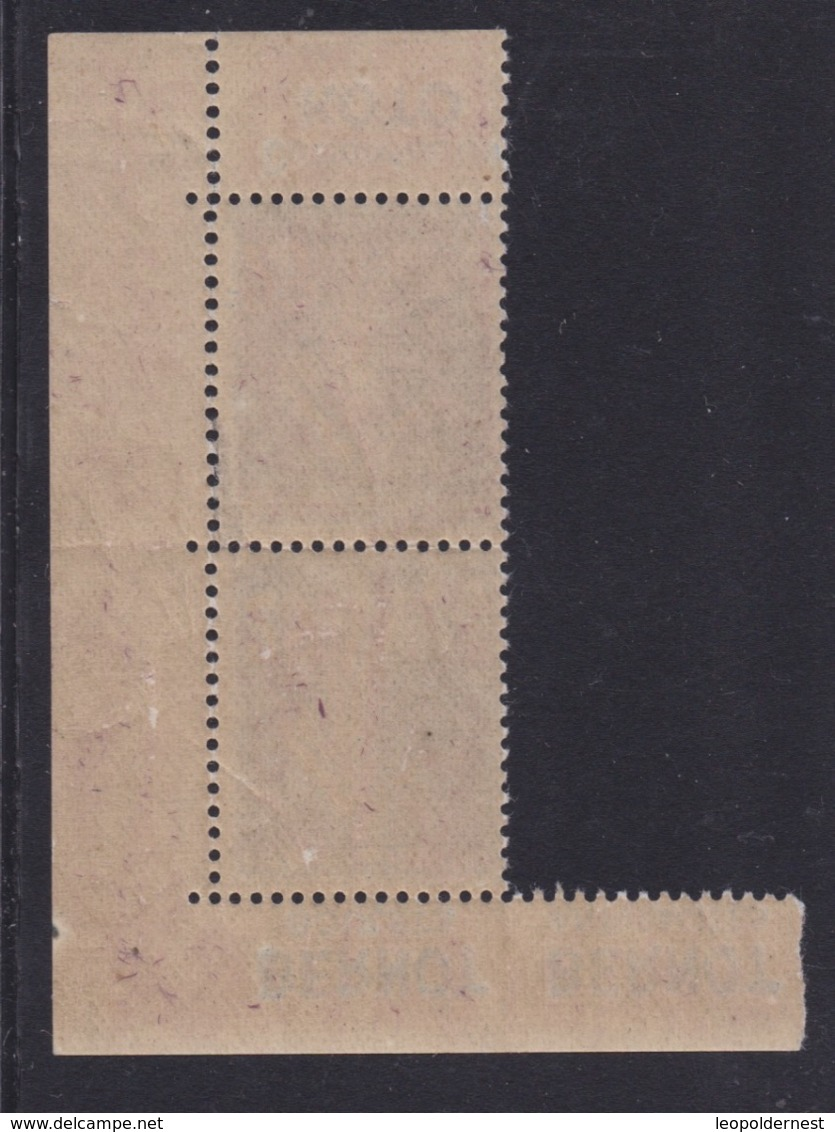 FRANCE - CARNET - N° 140 - Paire Verticale BERNOT. Rare++. - Markenheftchen