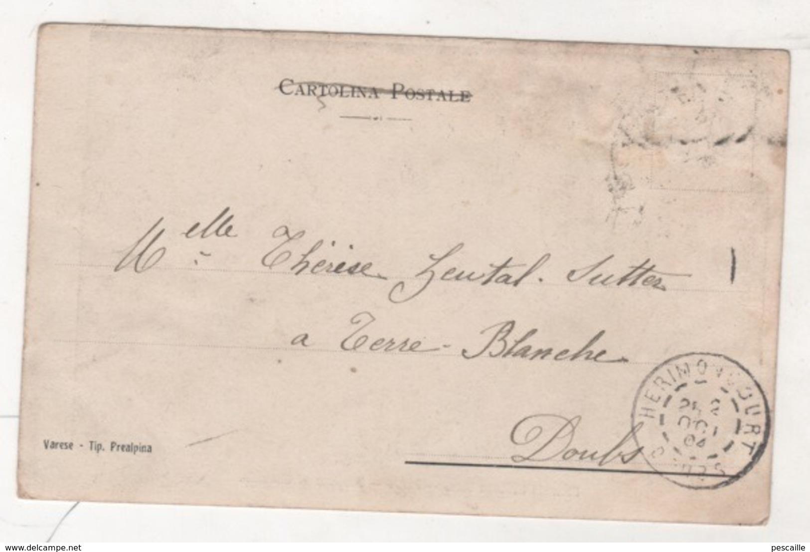 LOMBARDIA - CP ANIMEE FERROVIA ELETTRICA VARESE - LUINO - STAZIONE DI CUNARDO - VARESE TIP. PREALPINA - CIRCULEE EN 1904 - Varese