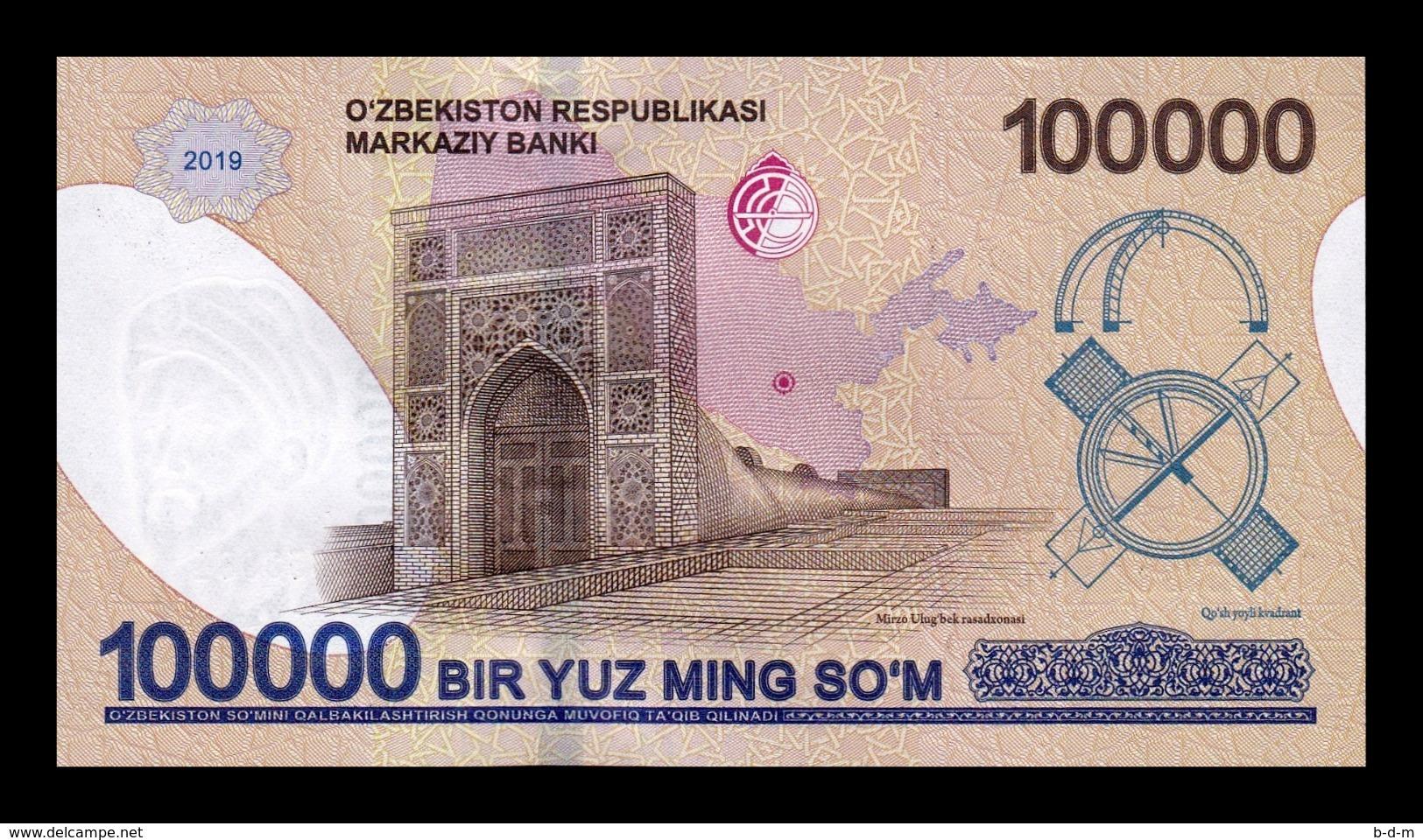 Uzbekistan 100000 Sum 2019 Pick New SC UNC - Uzbekistán