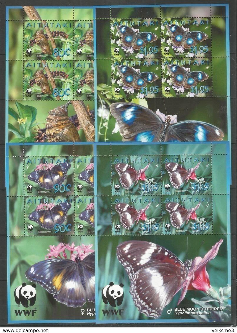 AITUTAKI - MNH - Animals - Insects - Butterflies - WWF - Mariposas