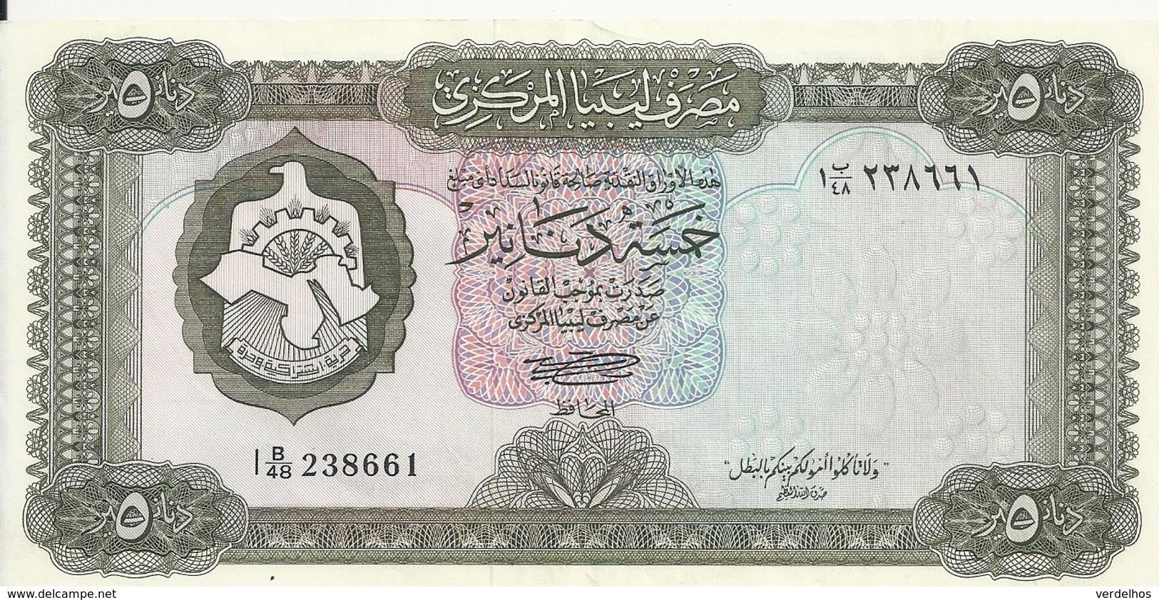 LIBYE 5 DINARS ND1972 XF++ P 36 B - Libya