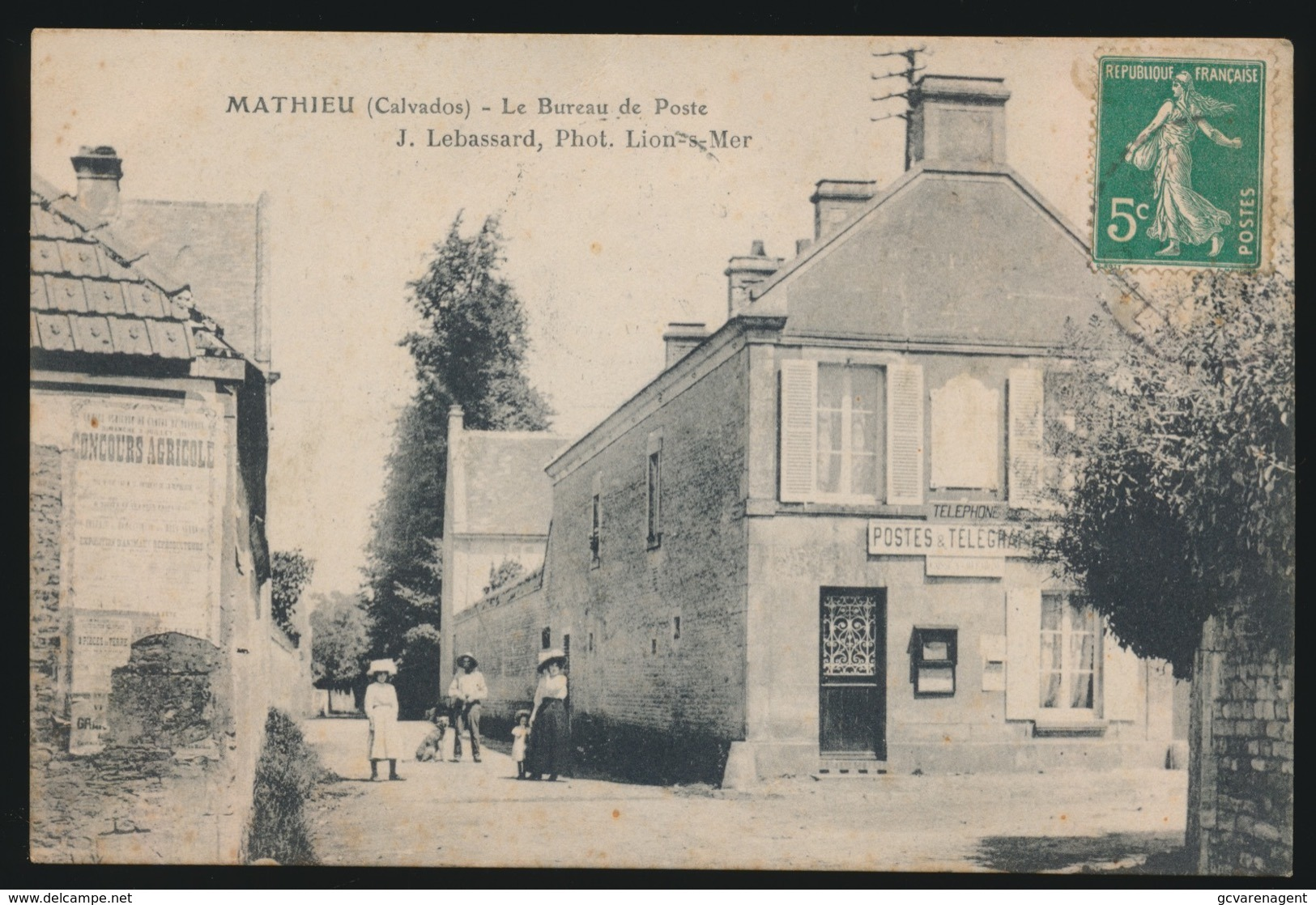 MATHIEU  - LE BUREAU DE POSTE - Andere Gemeenten