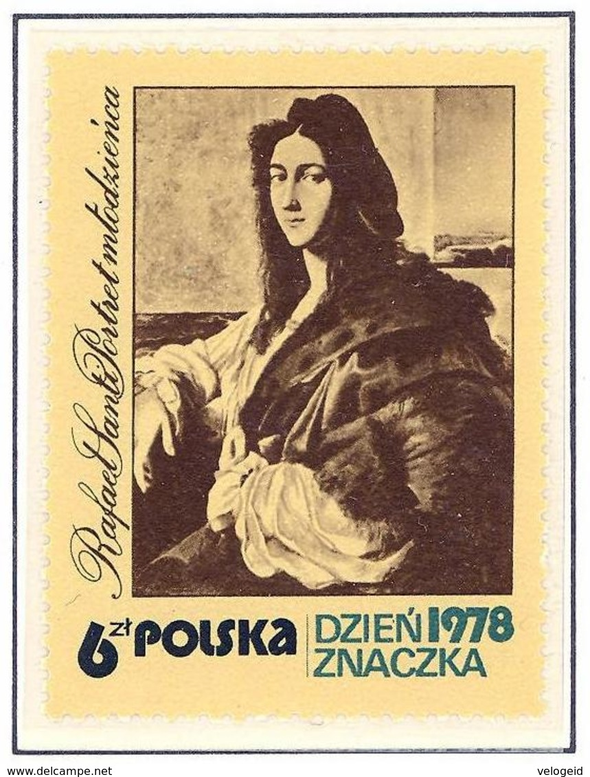 Polonia. Poland. 1978. Mi 2581. Stamp Day. Young Man, By Raphael - Arte