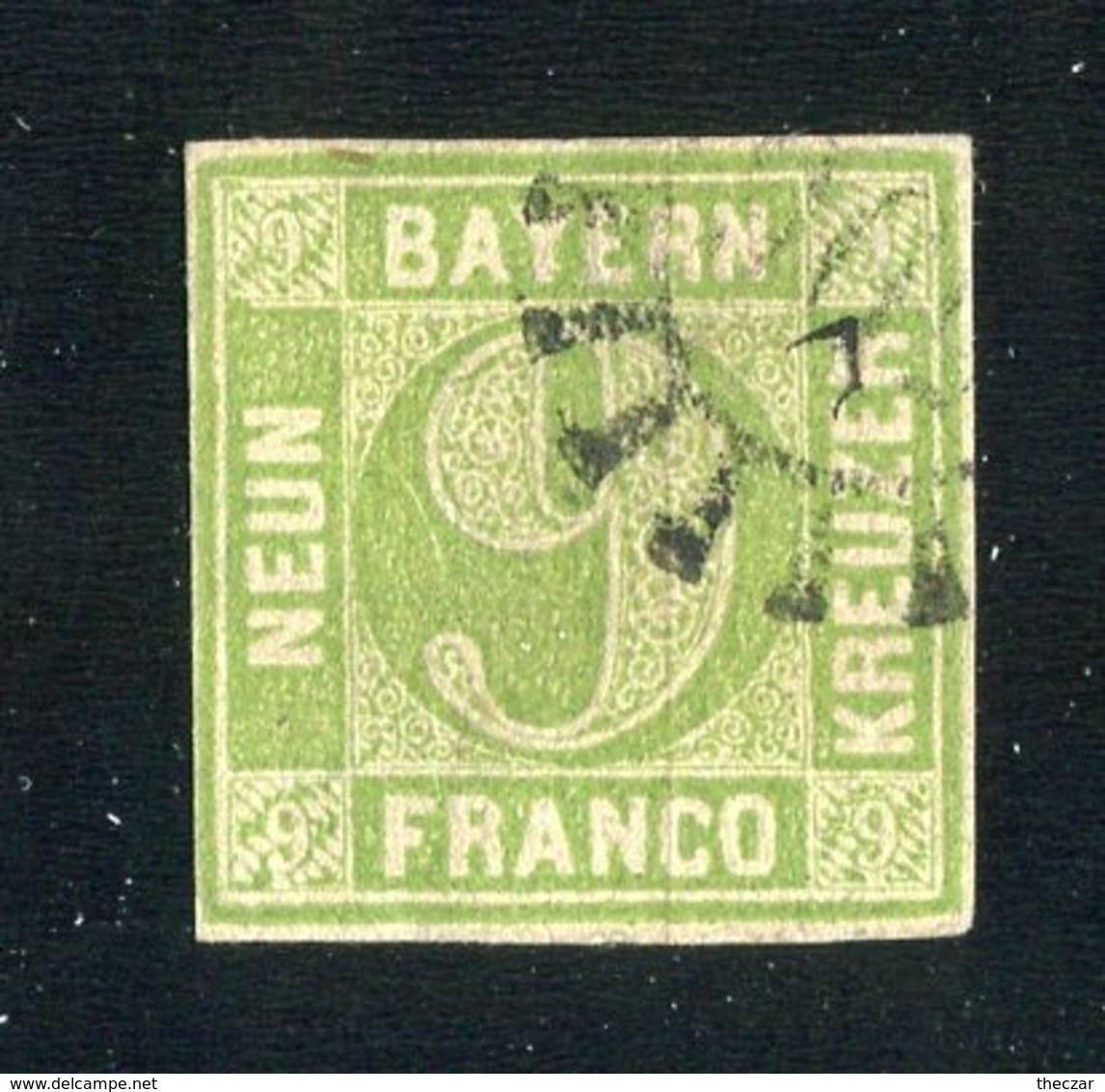 GS 1148 Bavaria 1850 Mi.#5c III (o) (cat.20.€) - Bavière