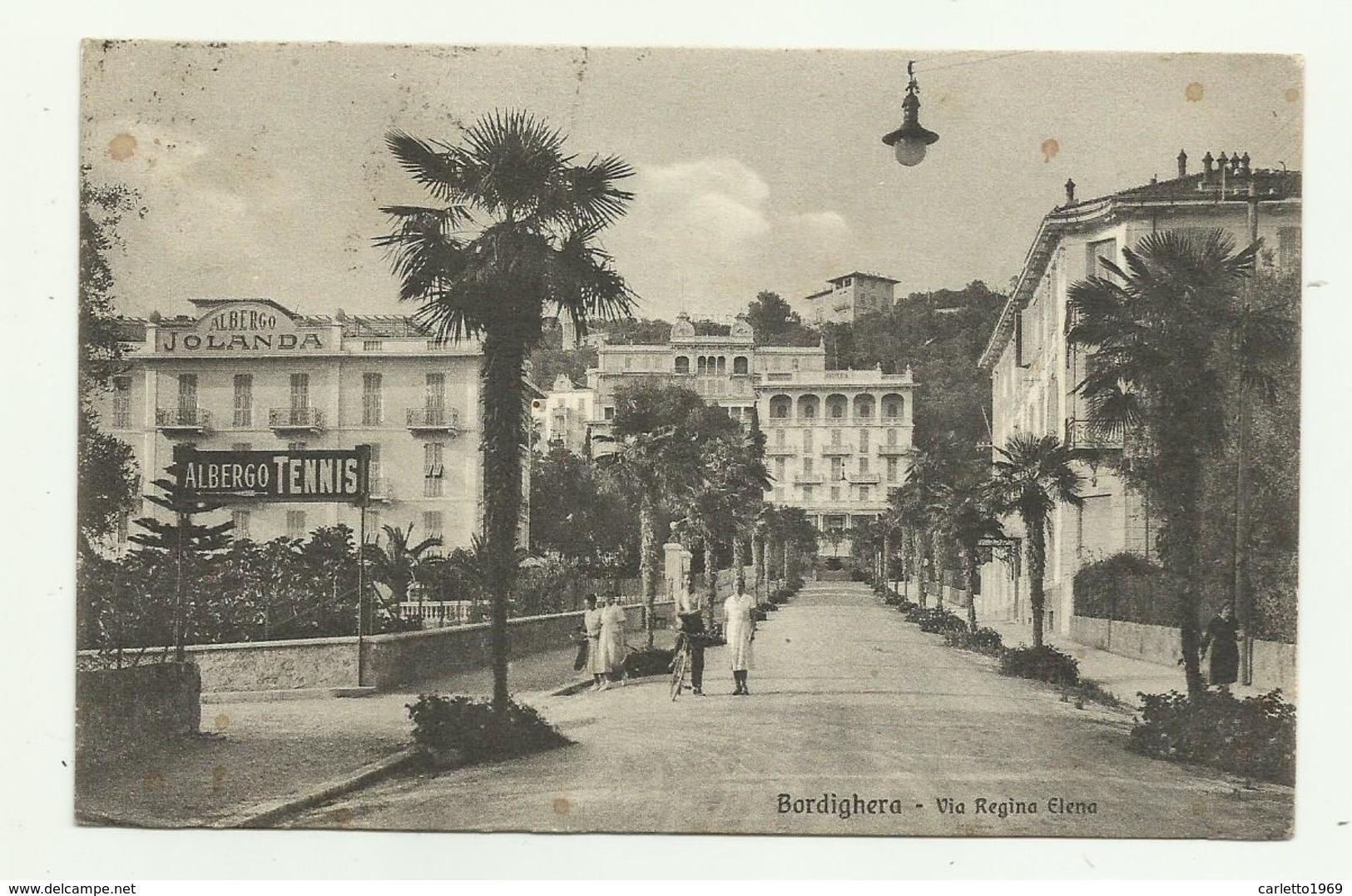 BORDIGHERA - VIA REGINA ELENA   - VIAGGIATA FP - Imperia