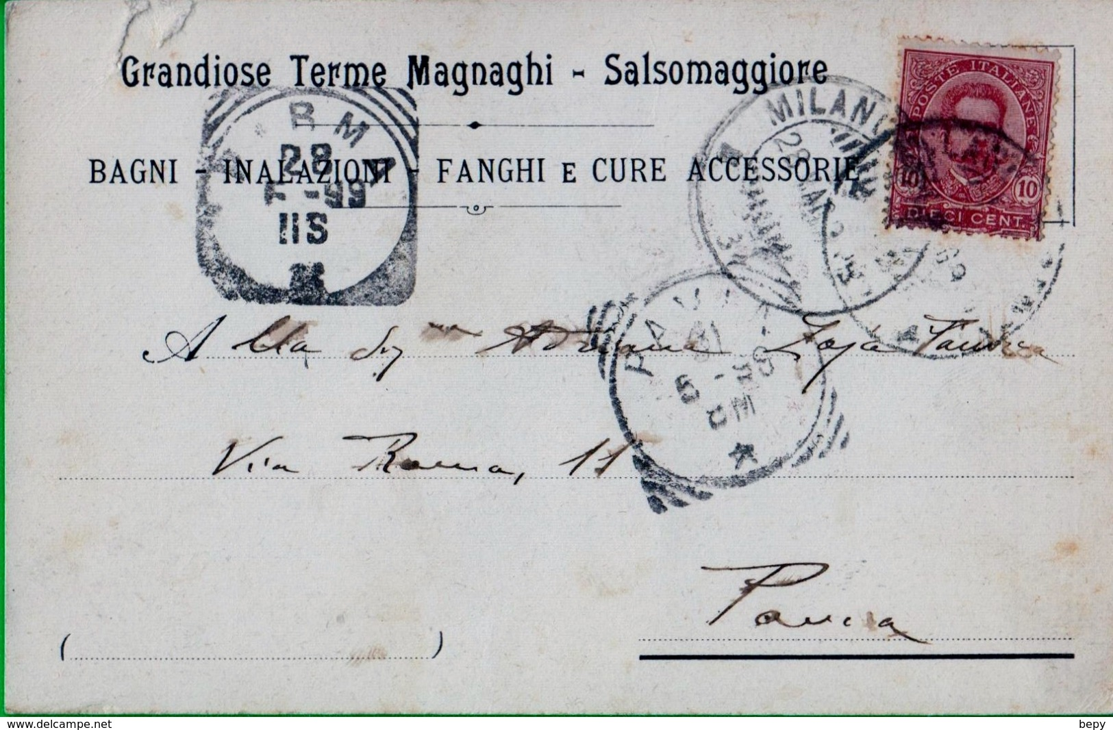 SALSOMAGGIORE. Terme, Magnaghi. Francobollo Cent 10 Isolato. Umbrto. - 1878-00 Umberto I