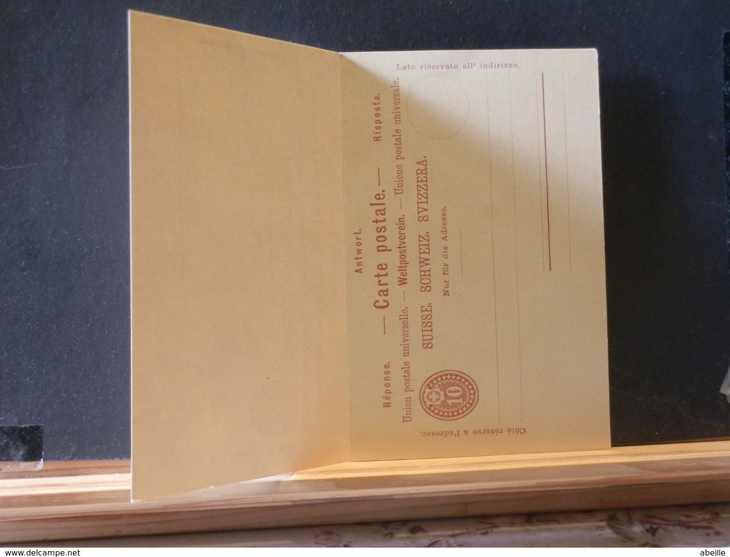 A11/202   CP  XX SUISSE AVEC REPONSE - Interi Postali