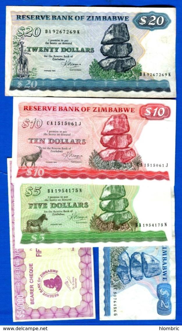 Zimbabwe  5  Billets - Zimbabwe