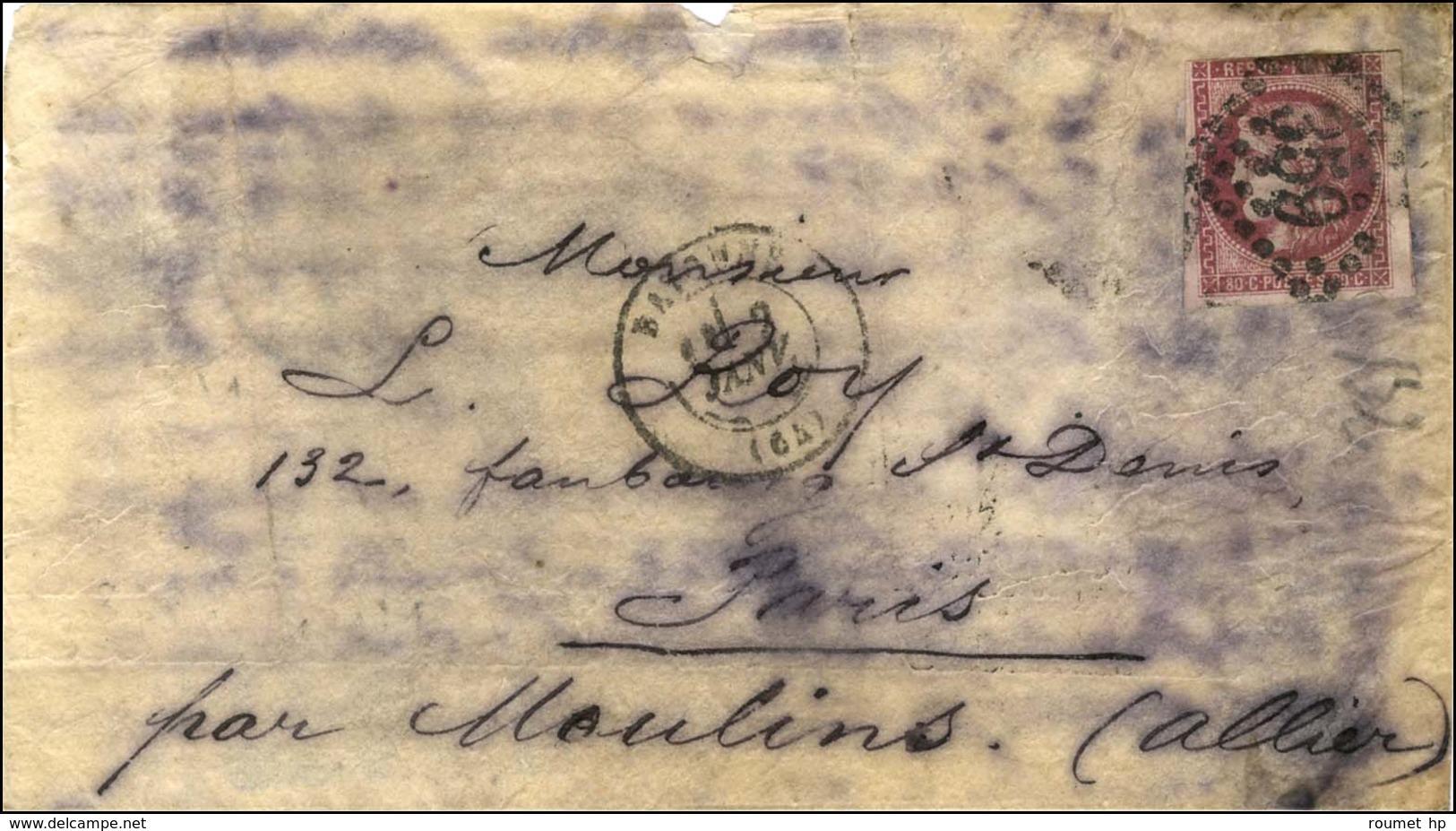 GC 359 / N° 49 (def) 20c Tombé Par Immersion Càd T 17 BAYONNE (64) 2 JANV. 71 Sur Boule De Moulins. Au Verso, Càd D'arri - Poststempel (Briefe)