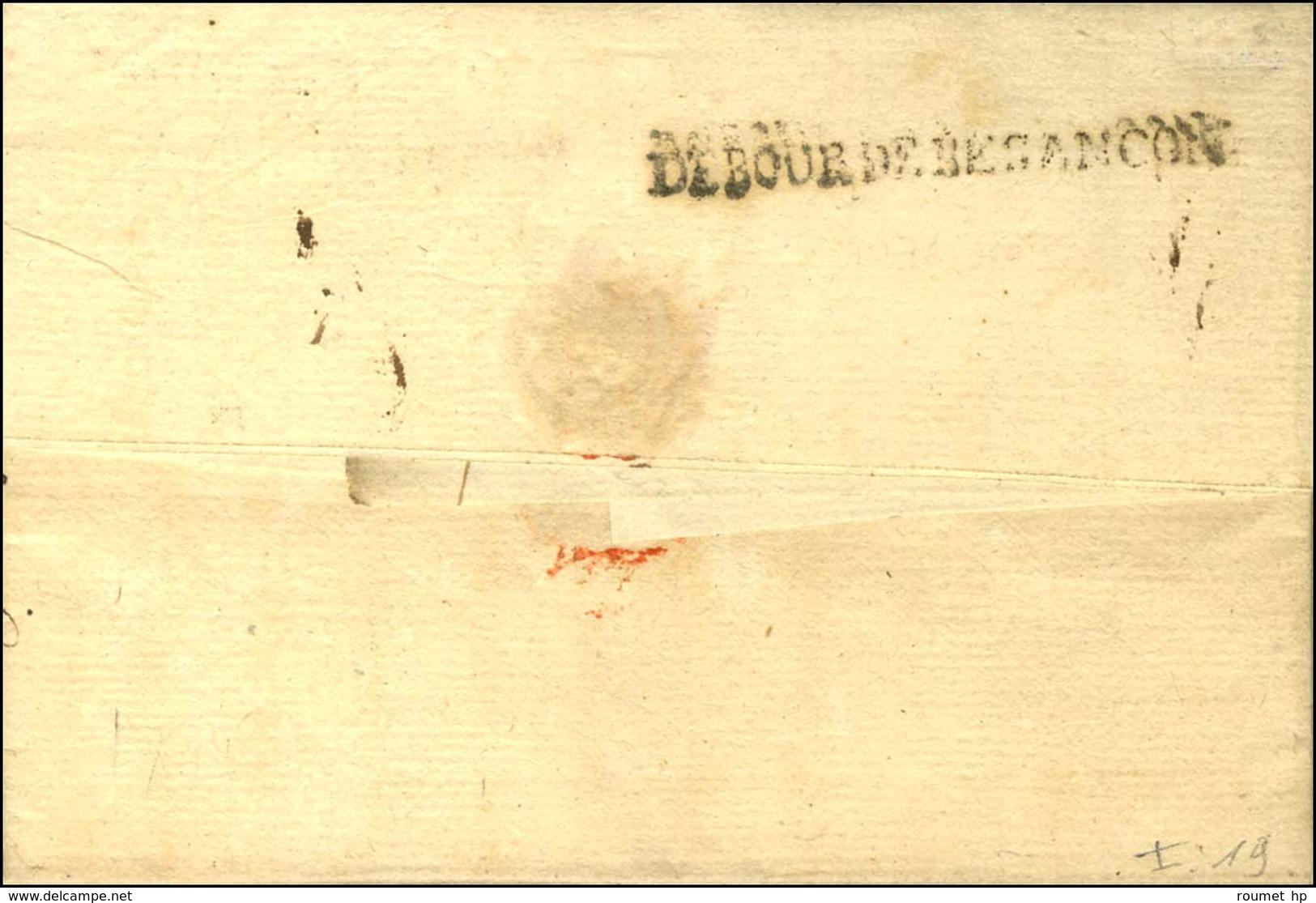 DEBOUR DE BESANÇON (L N° 18, 49 Mm) Sur Lettre Avec Texte Daté 1775 (1ère Date Vue). - TB. - Storia Postale