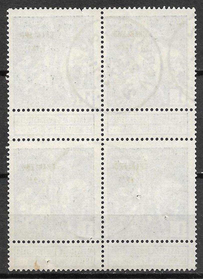 Belgium 1911 Caritas Charleroi 1911 ( Block Of 4 Stamps) - 1910-1911 Caritas