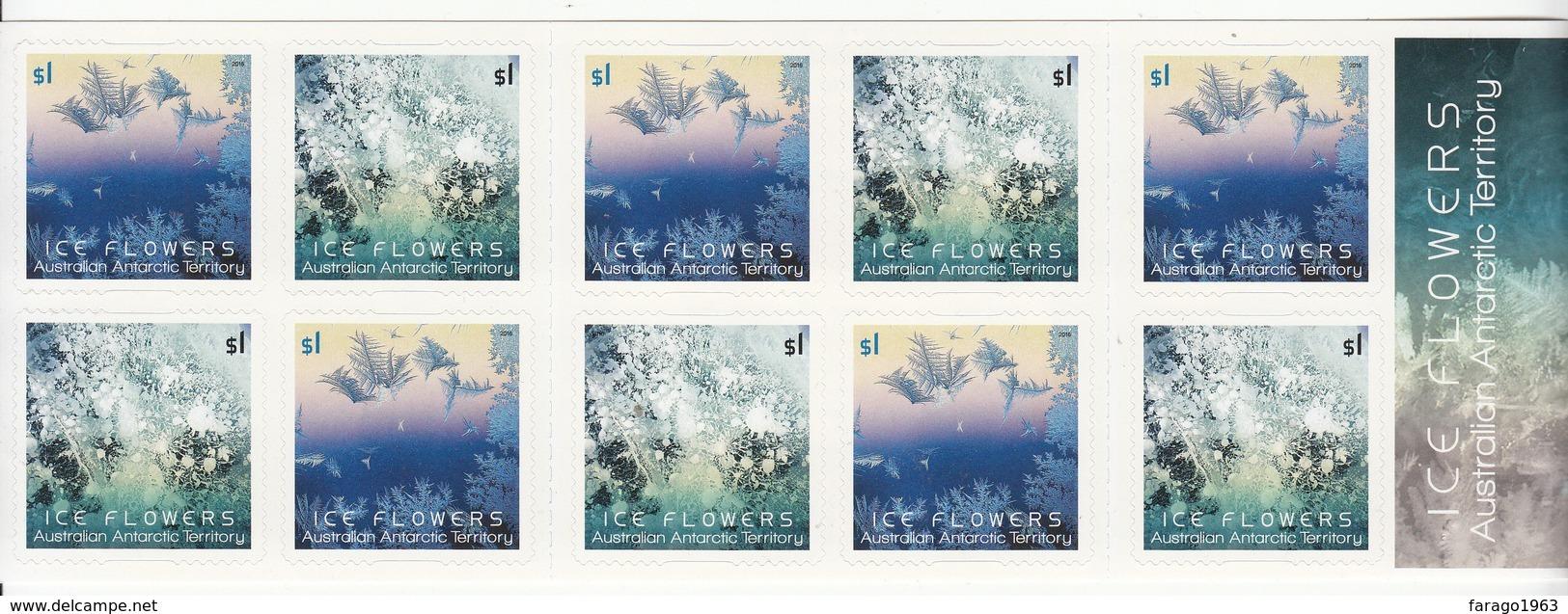 2016 Australian Antarctic Territory Ice Flowers Booklet Unexploded  MNH @  90% FACE VALUE - Australisches Antarktis-Territorium (AAT)