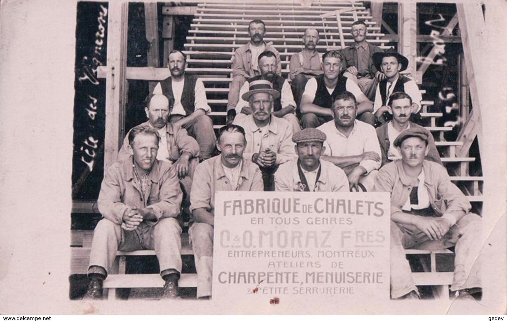 Montreux VD, Fabrique De Chalets, Charpente, Menuiserie Fête Des Vignerons 1927 Vevey, O. MORAZ Frères (751) - VD Vaud