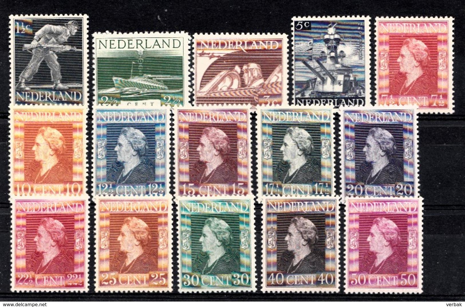 Pays-Bas 1944  Mi. Nr: 428-442 Freimarken Der Londoner.....  Neuf Sans Charniere / MNH / Postfris - Ongebruikt