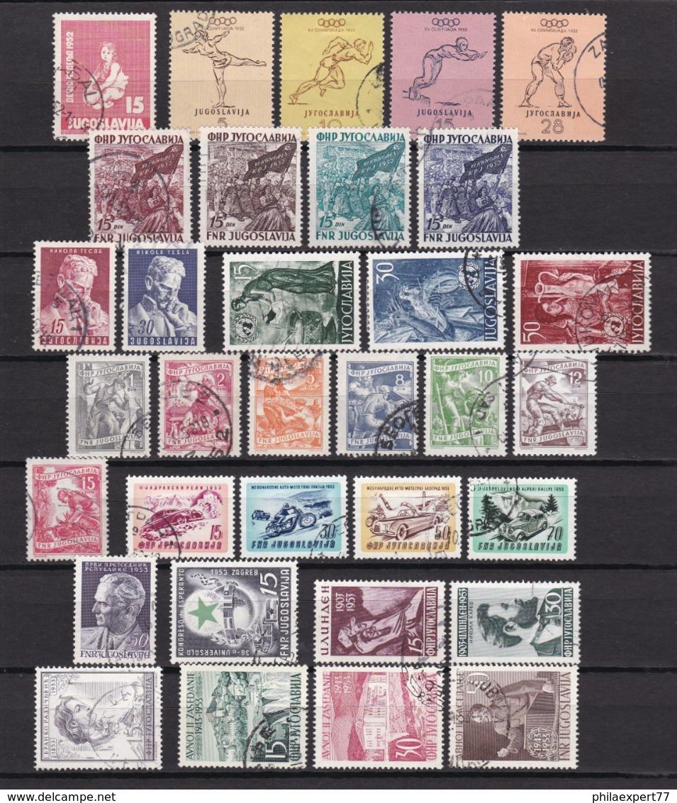 Jugoslawien - 1952/53 - Sammlung - Gest. - 59 Euro - 1945-1992 Sozialistische Föderative Republik Jugoslawien