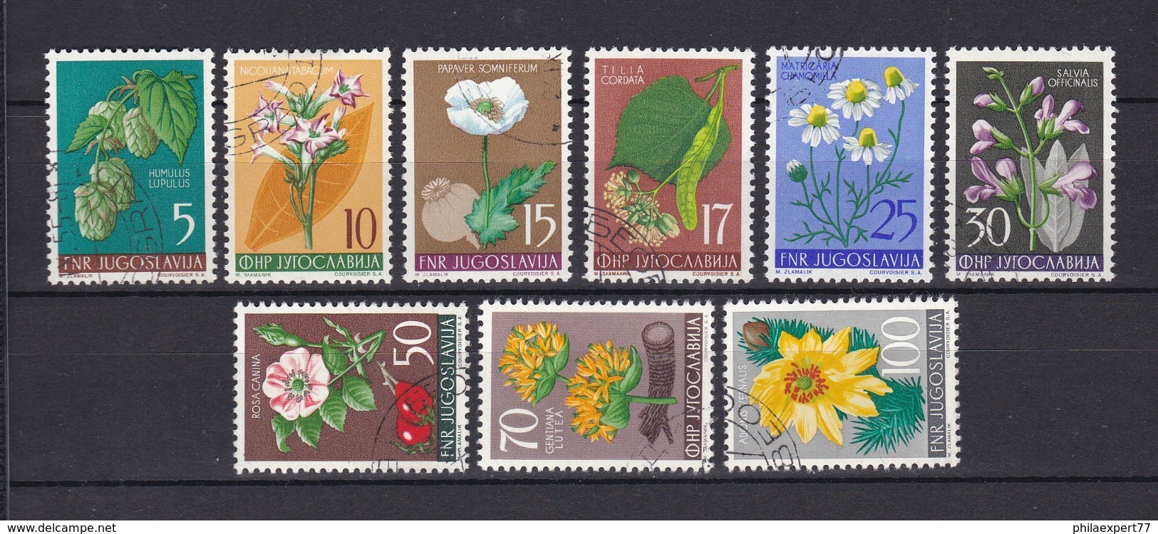 Jugoslawien - 1955 - Michel Nr. 765/773 - Gest. - 20 Euro - 1945-1992 Sozialistische Föderative Republik Jugoslawien