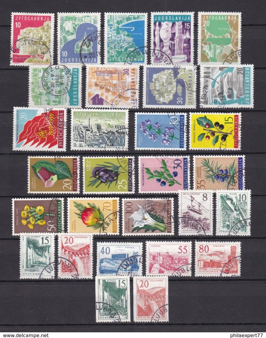 Jugoslawien - 1959 - Sammlung - Gest. - 21 Euro - 1945-1992 Sozialistische Föderative Republik Jugoslawien