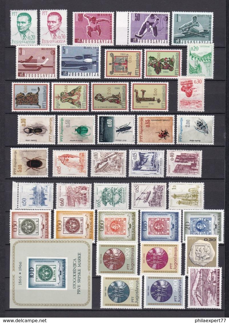 Jugoslawien - 1966 - Sammlung - Postfrisch - 26 Euro - 1945-1992 Sozialistische Föderative Republik Jugoslawien