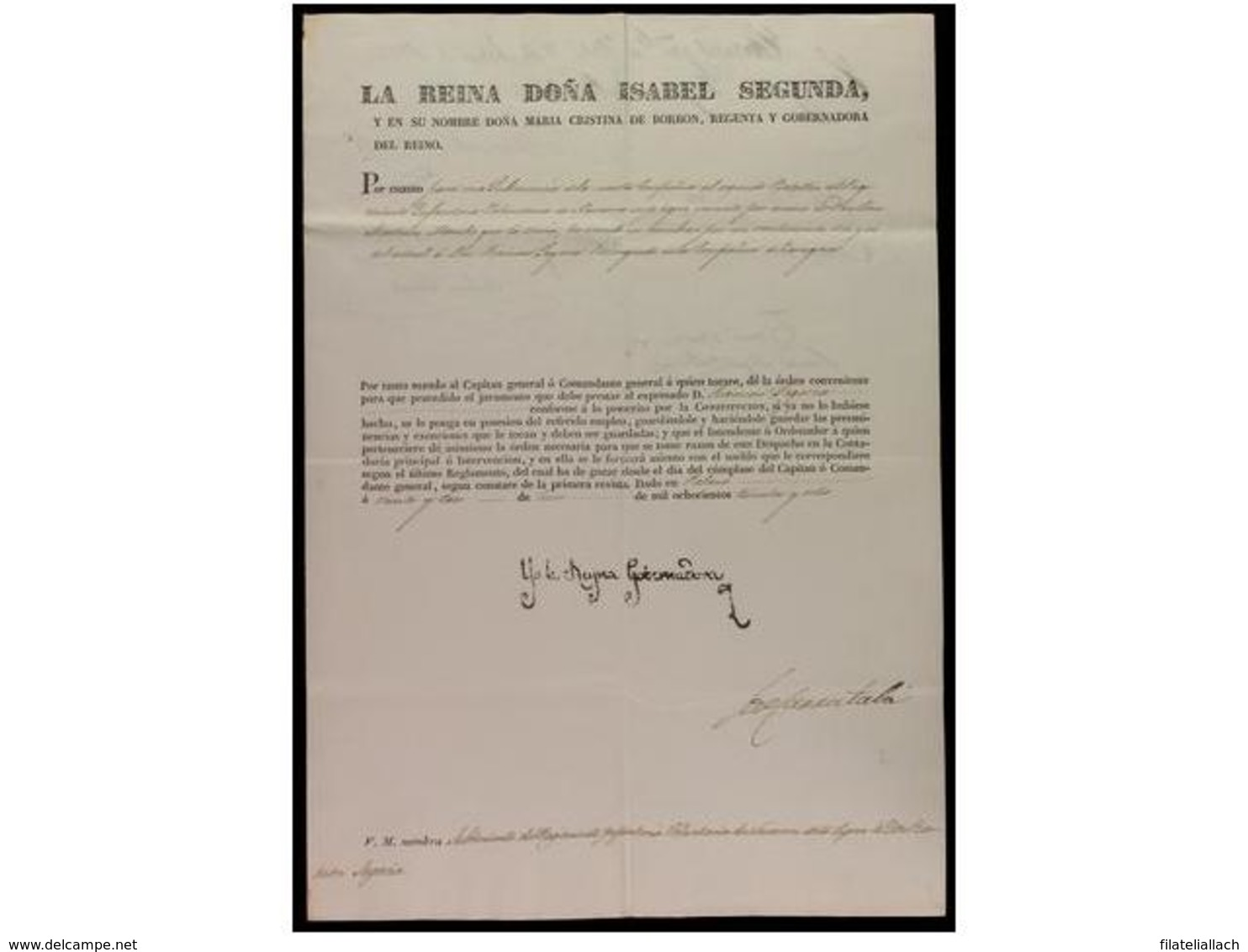 SPAIN. OLD DOCUMENTS - Spagna