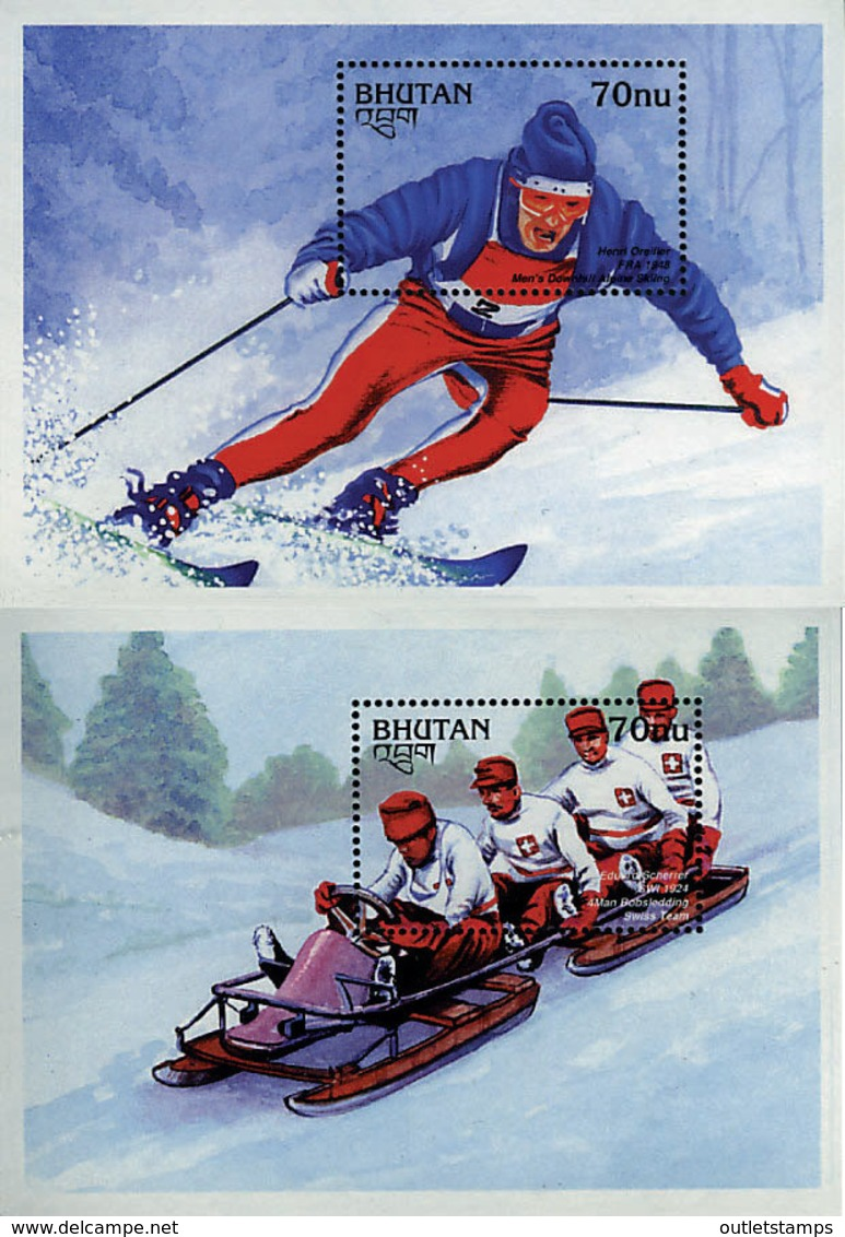 Ref. 72554 * NEW *  - BHUTAN . 1997. MEDALLERS OF THE WINTER OLYMPIC GAMES . MEDALLAS DE LOS JUEGOS OLIMPICOS DE INVIERN - Bhután