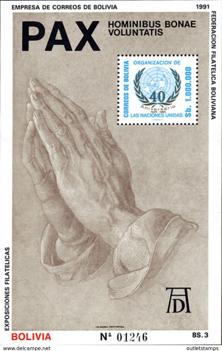 Ref. 101435 * NEW *  - BOLIVIA . 1991. PEACE. PAZ - Bolivia
