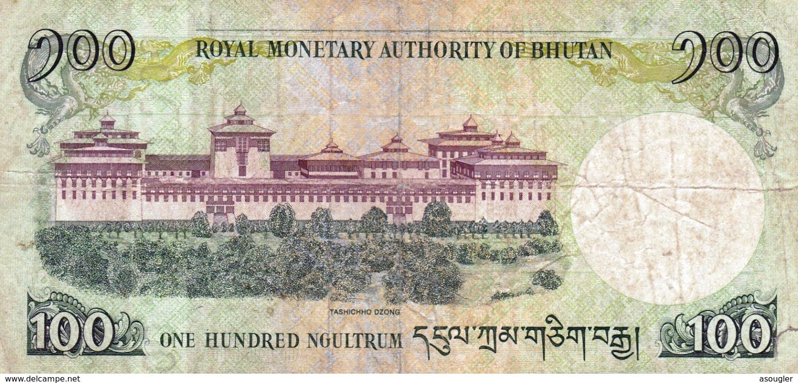 "BHUTAN 100 NGULTRUM 2015 F P-32b ""free Shipping Via Regular Air Mail (buyer Risk)"" - Bhutan"