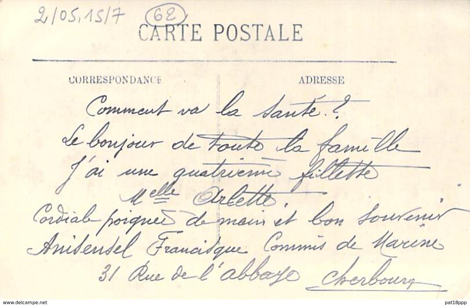 """EVENEMENTS Catastrophe 1910 - Le Submersible """" PLUVIOSE """"- Le Commandant CALLOT Disparu Devant CALAIS (62) CPA - - Rampen"""