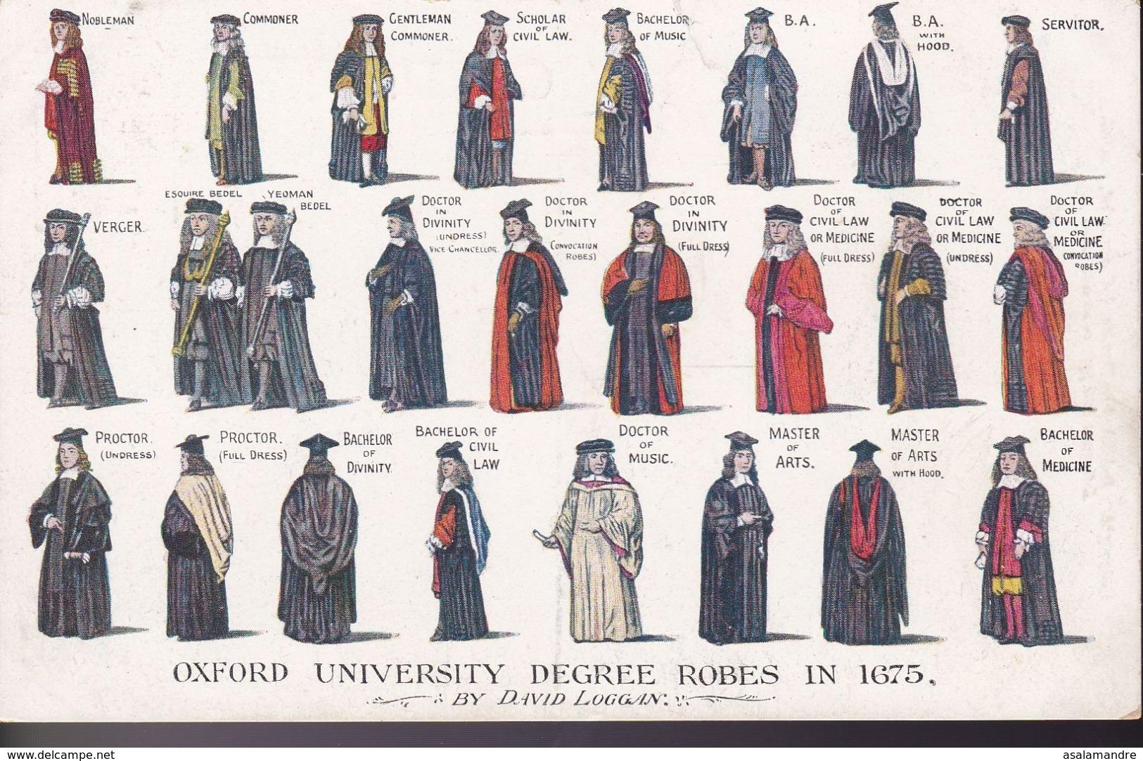 GRANDE BRETAGNE – Oxford University Degree Robes In 1675 - England