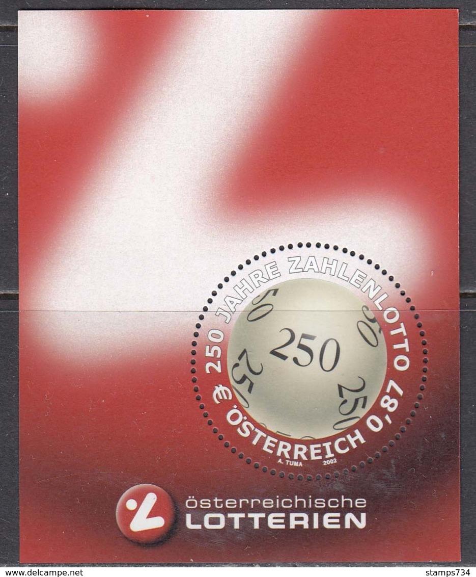 Austria 2002 - 250 Jahre Zahlenlotto In Oesterreich, Mi-Nr. Bl. 17, MNH** - Blokken & Velletjes