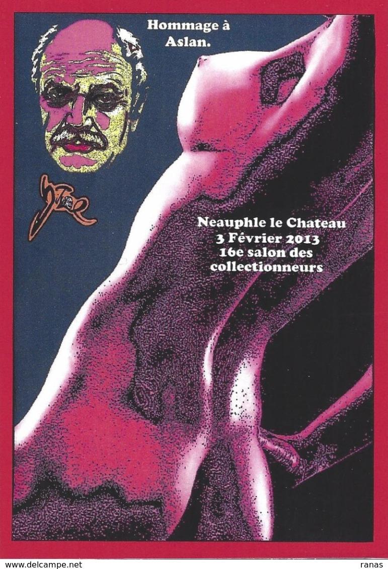 CPM Neauphle Le Chateau Par Jihel Tirage Limité En 30 Exemplaires Numérotés Signés 2013 Salon Collectionneurs Nu Féminin - Neauphle Le Chateau